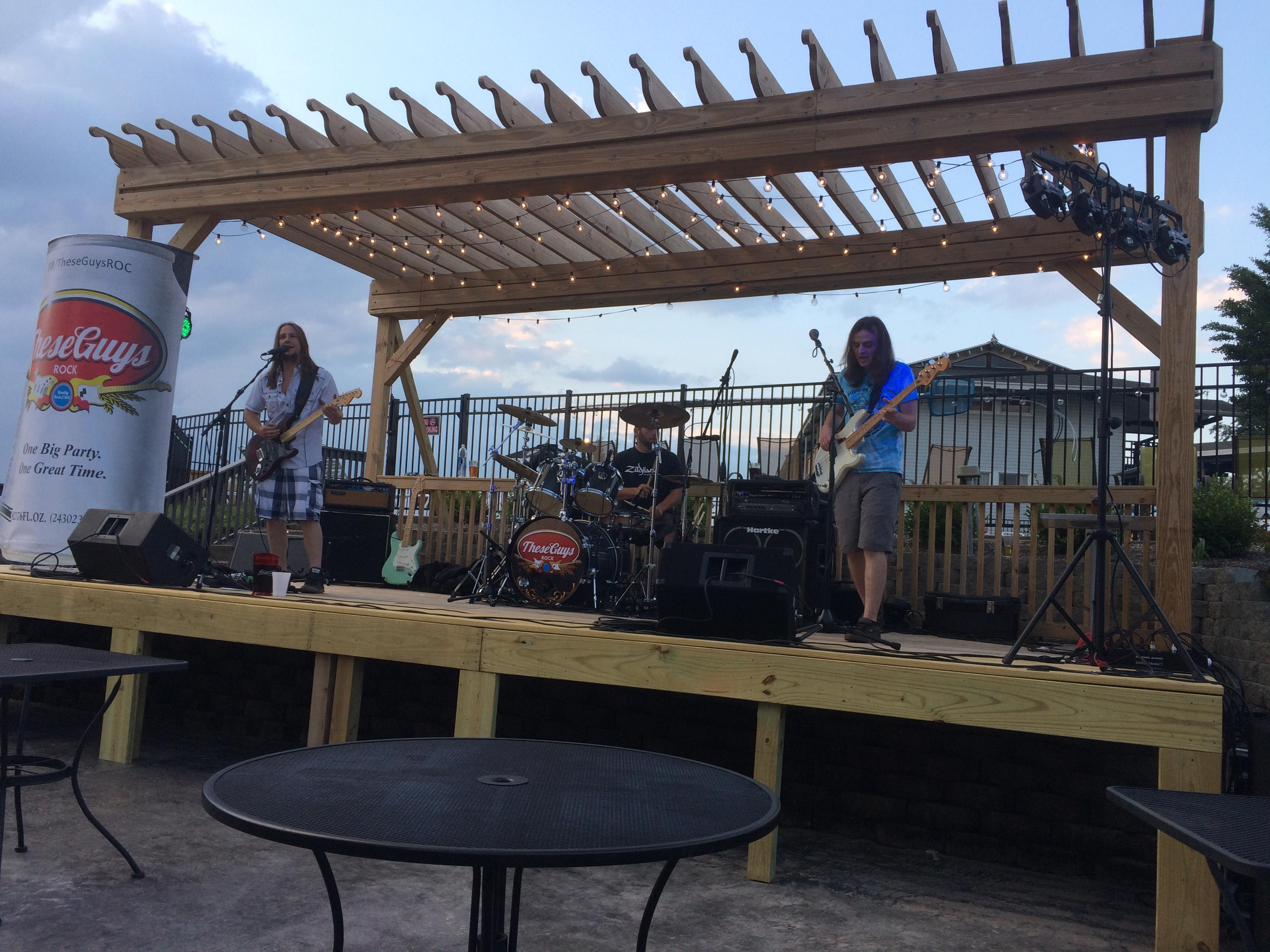 Live band on patio
