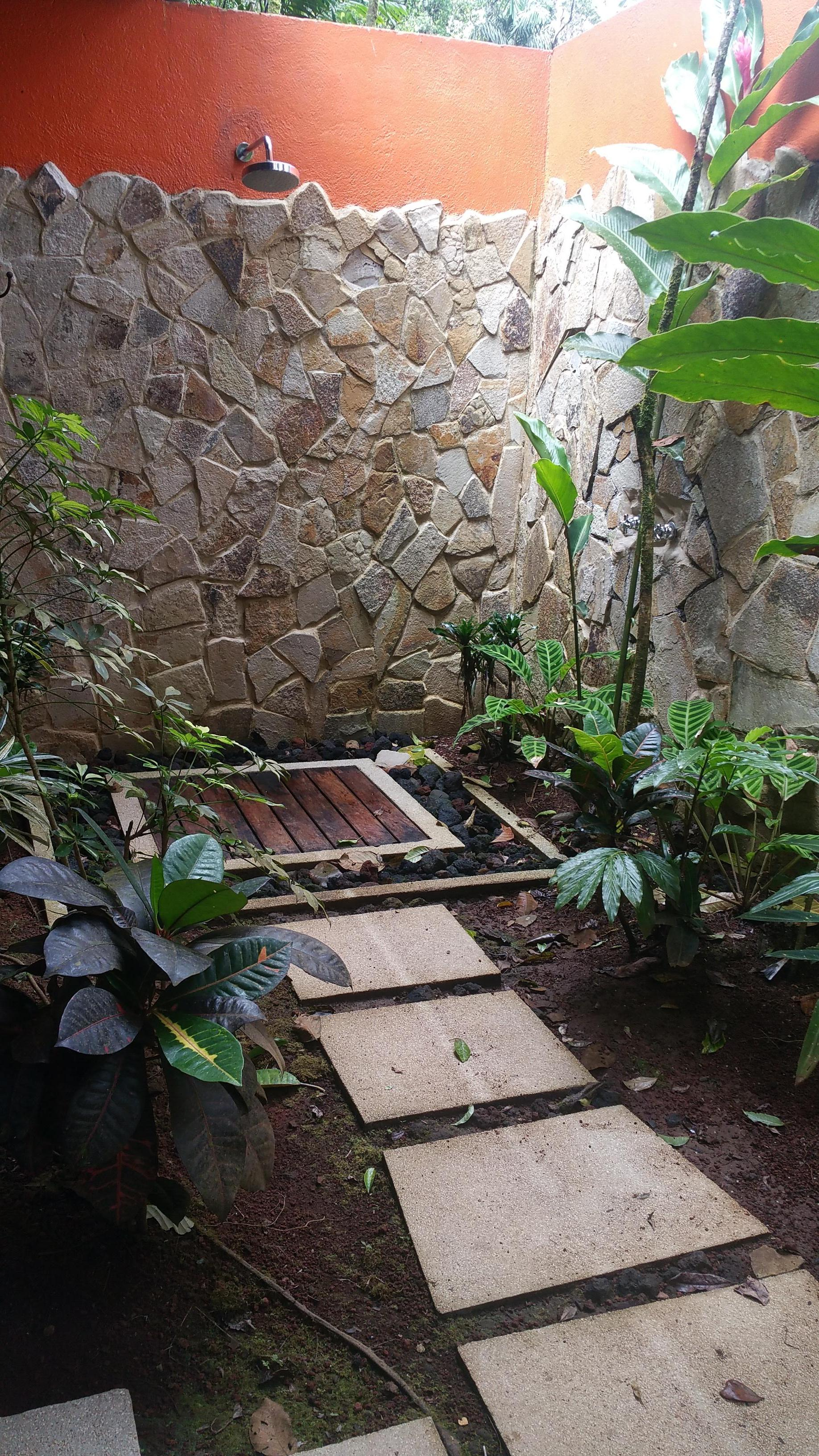 Our porch,  with all the wonderful rainforest sounds.