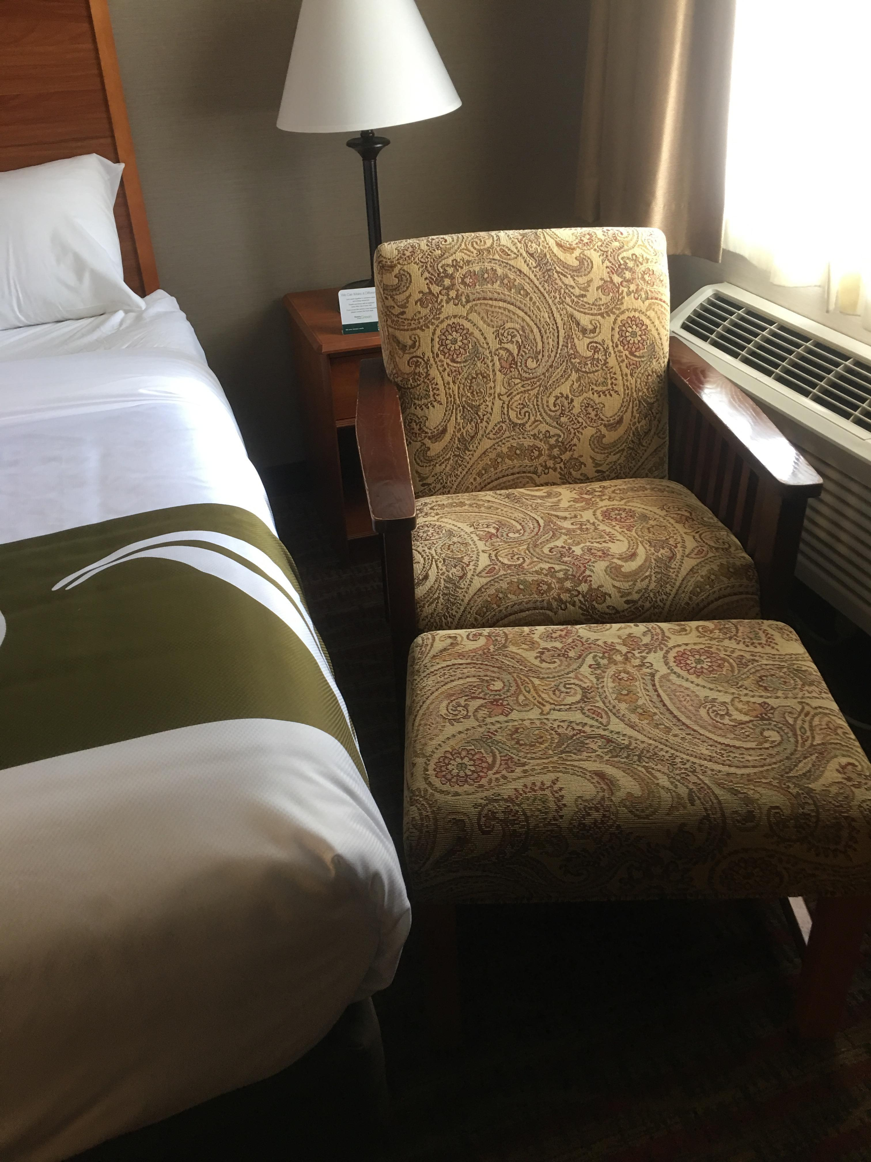 Chair and bed