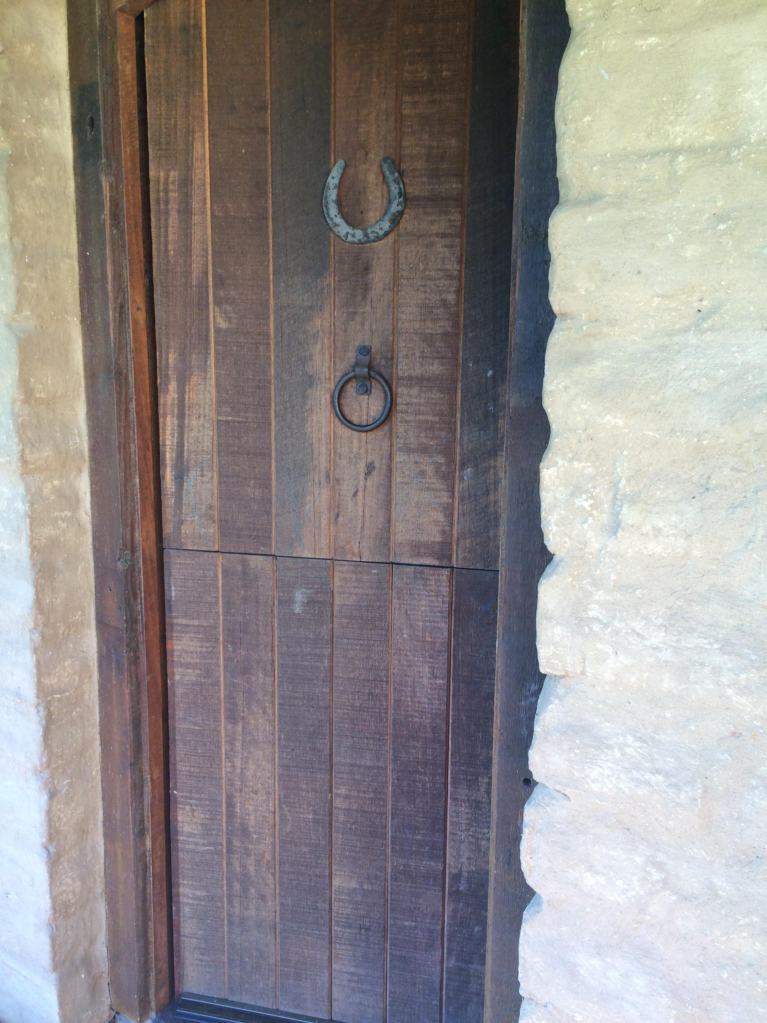 Front door of our stable