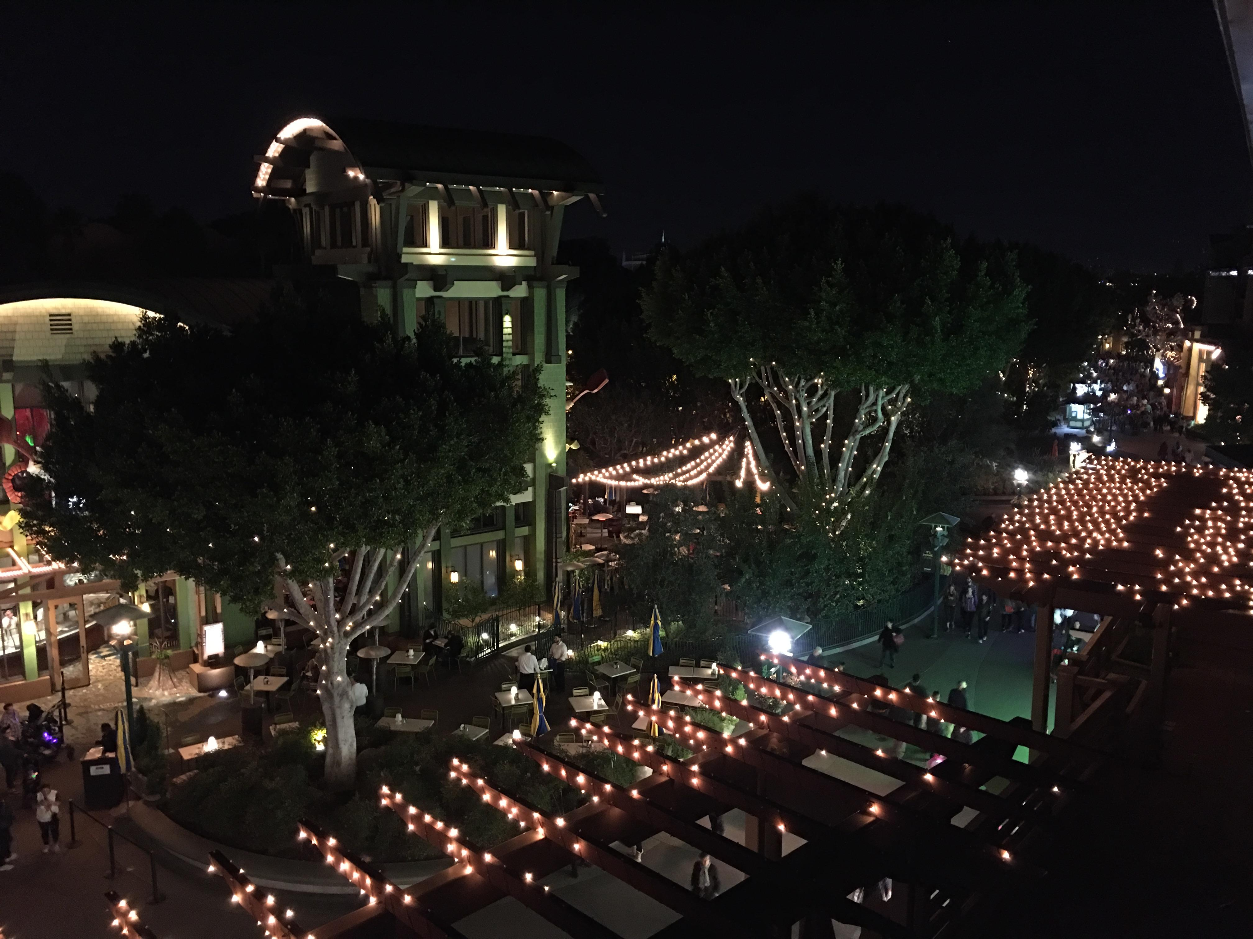 View from room 4151 at night