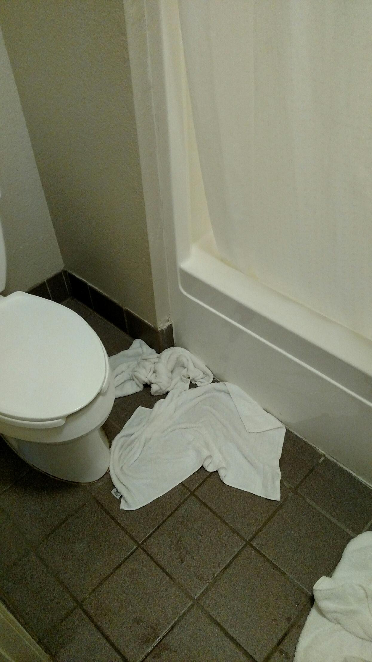 Had to put towels on the floor to keep from puddling up the entire bathroom.