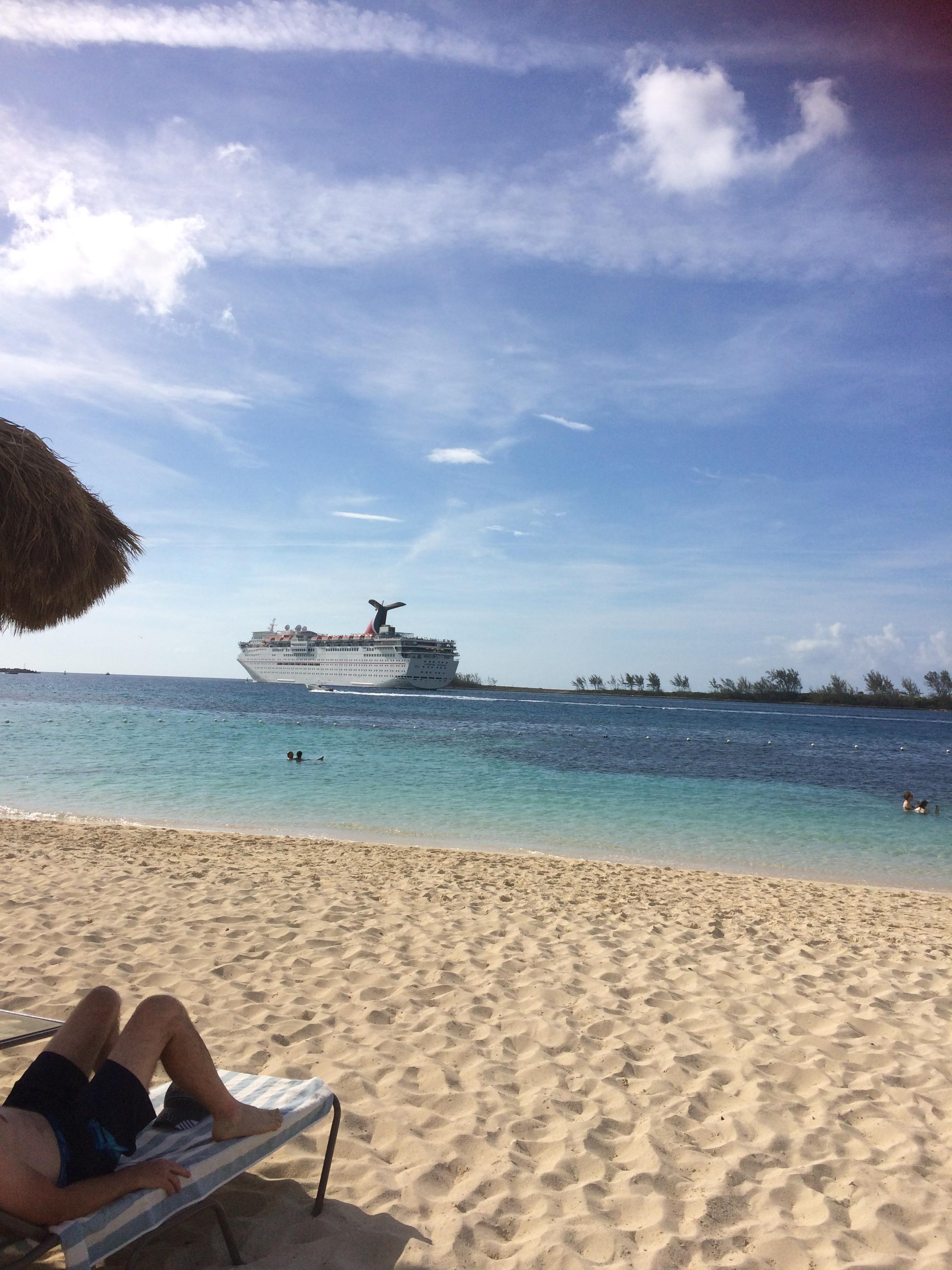 the private beach view