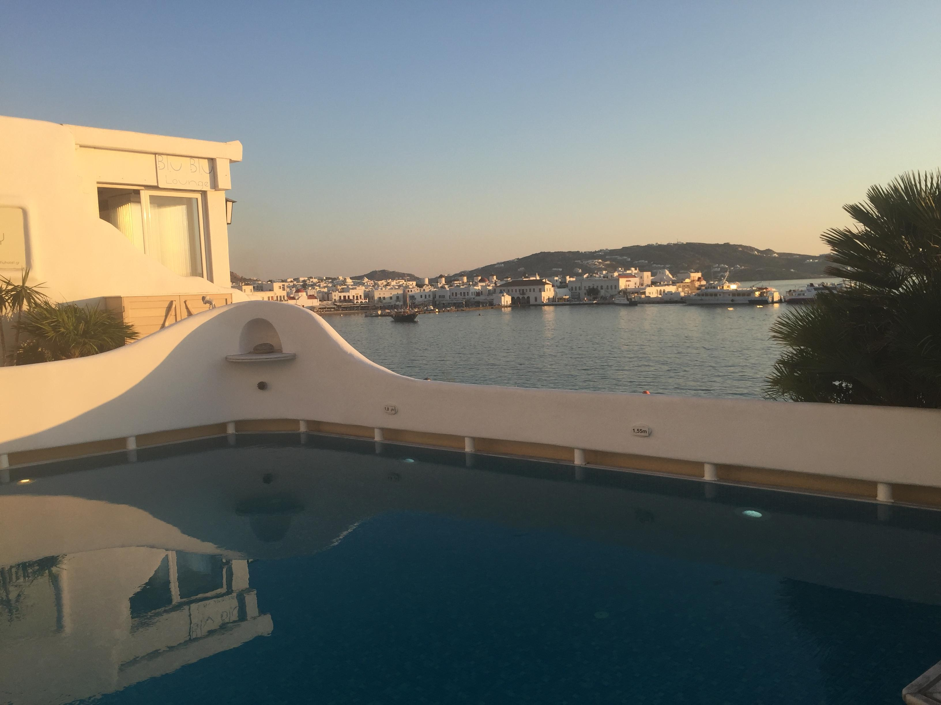 The pool overlooking the sea