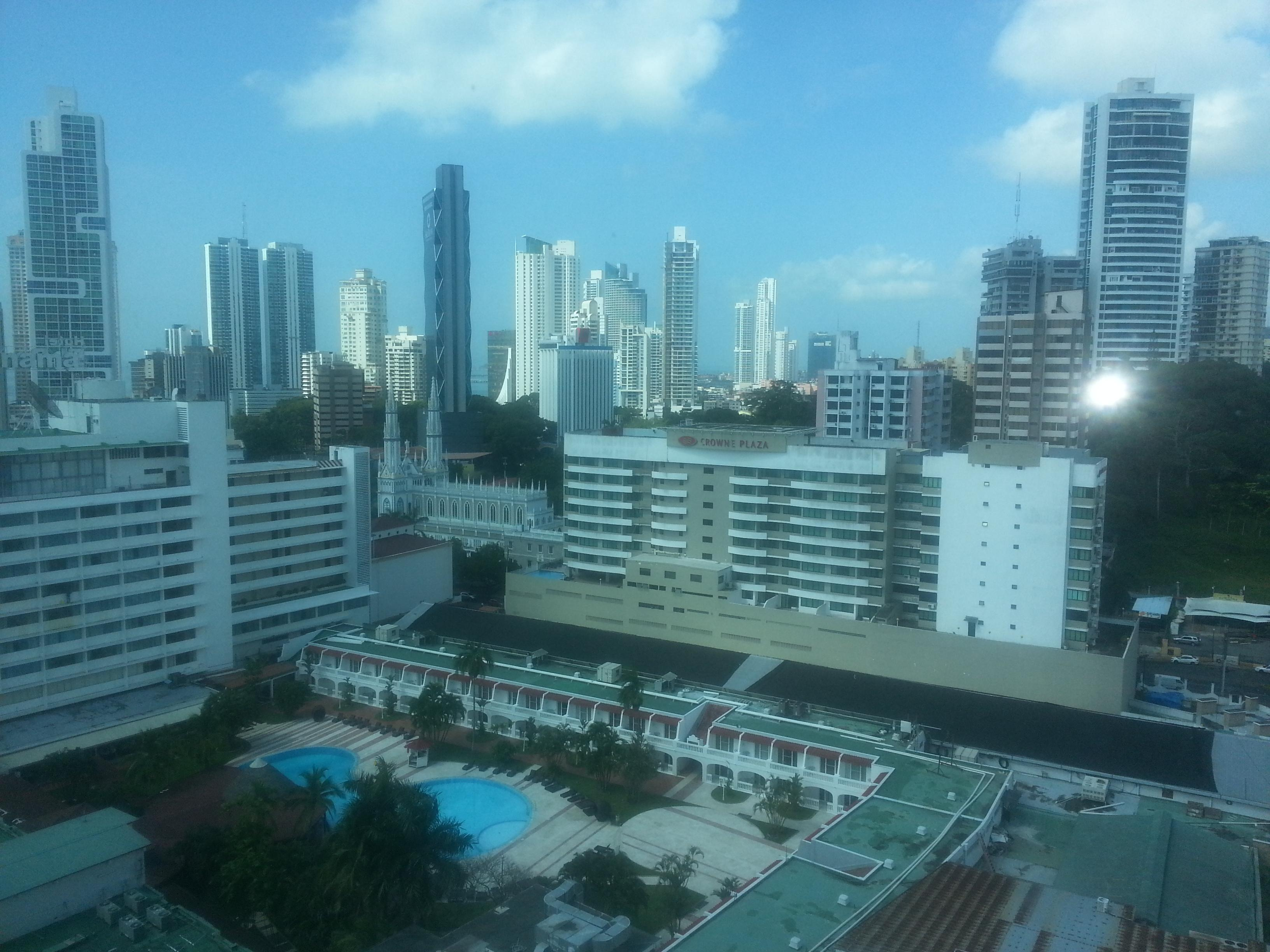 Panama City from my hotel window.