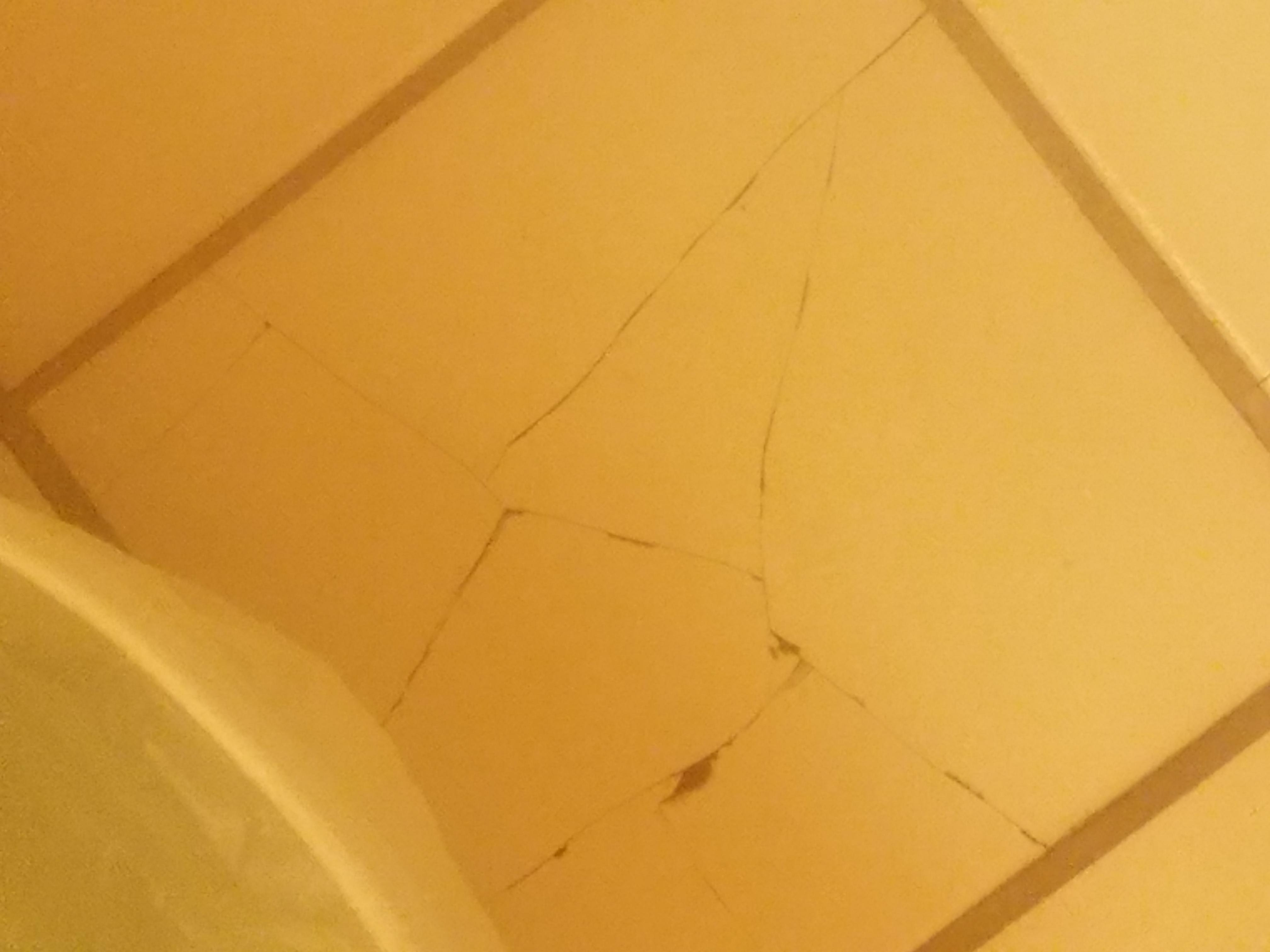 The paint was peeling all over the room