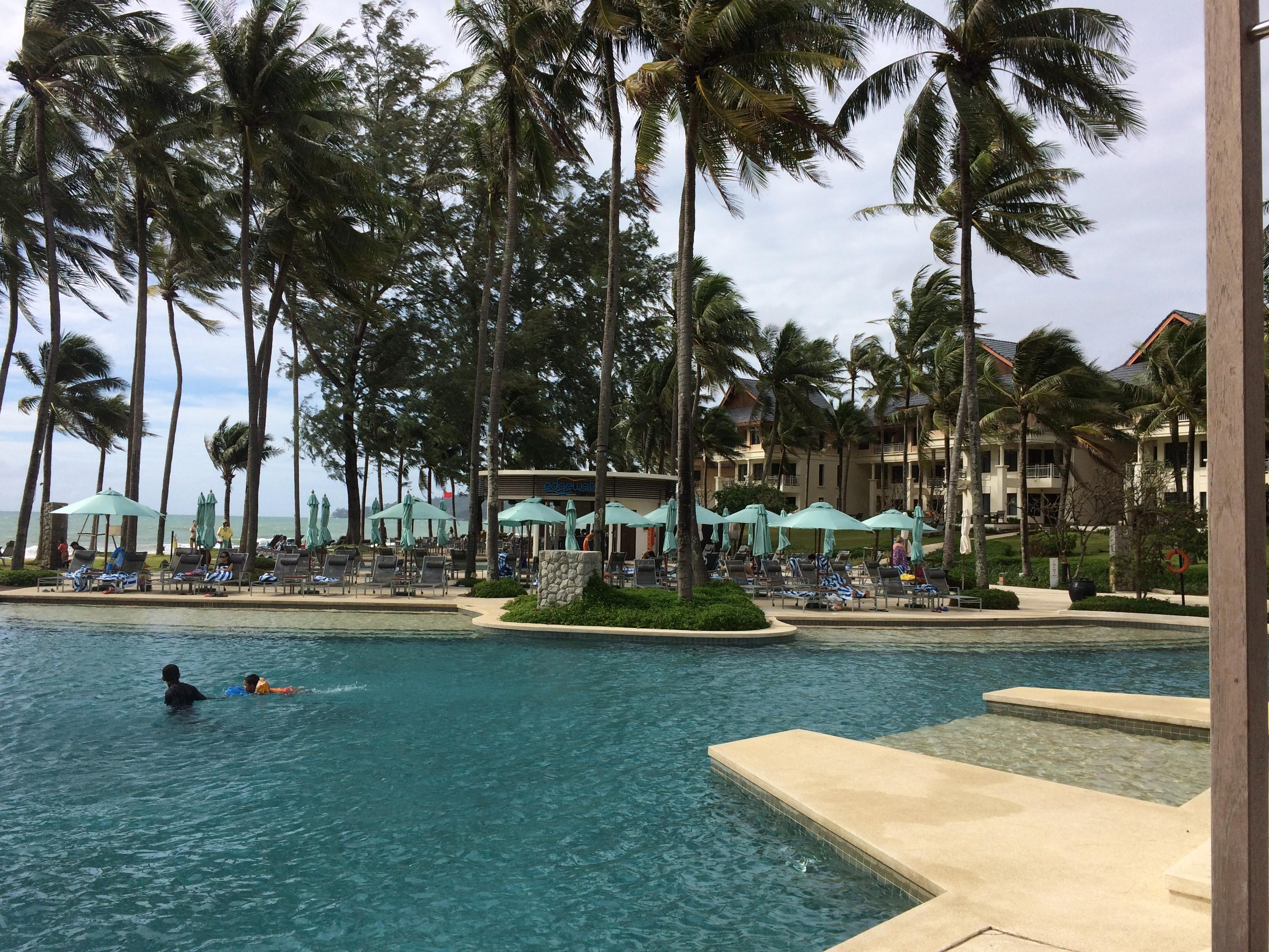 Pool and outrigger bar/restaurant