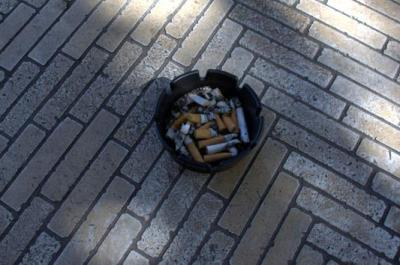 Sandals is all ash trays