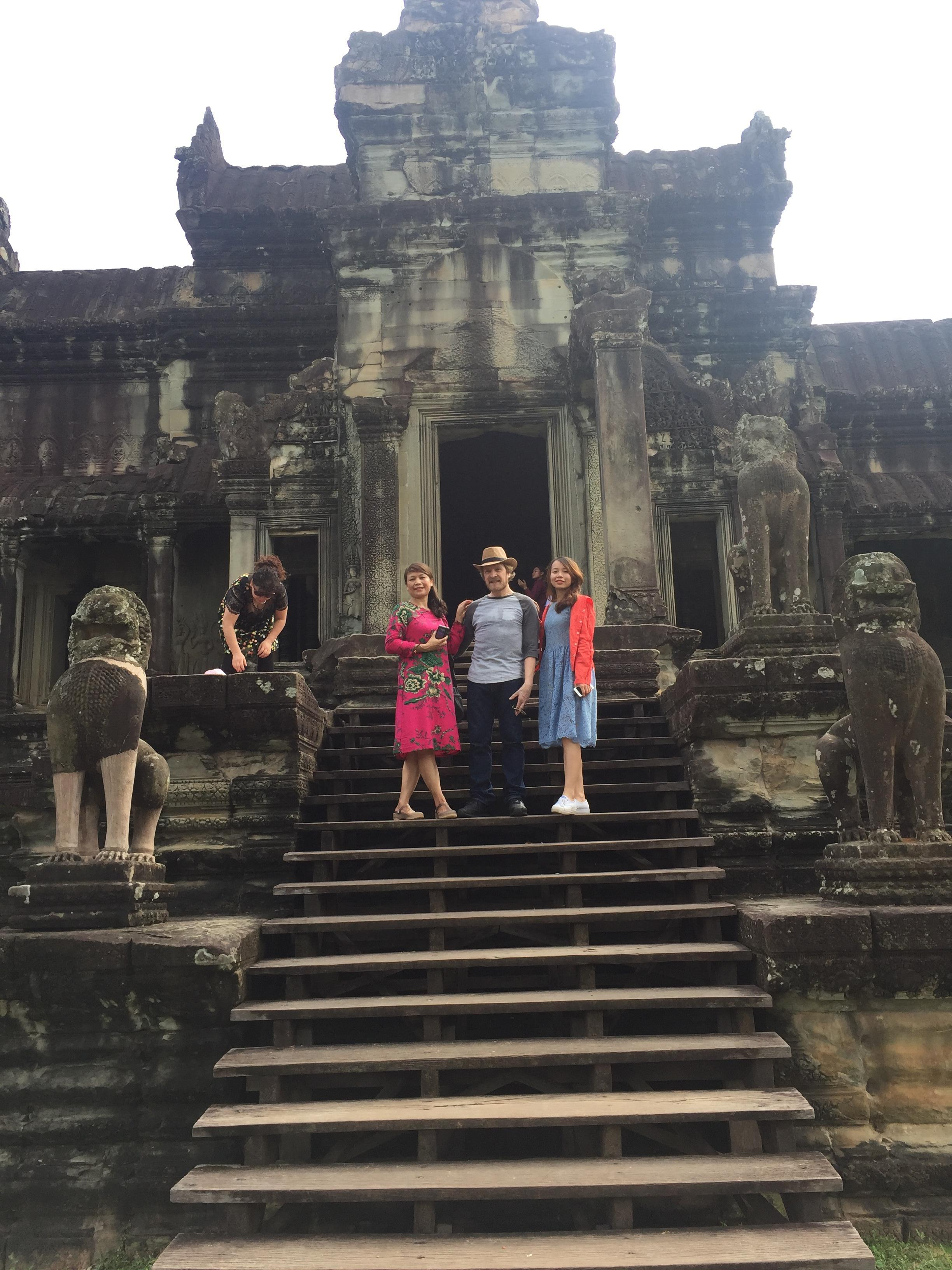 Me at Angkor Wat with tour guide