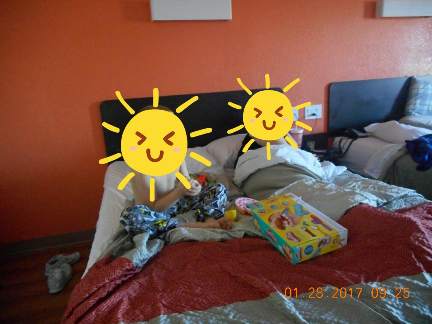 Pic showing bed