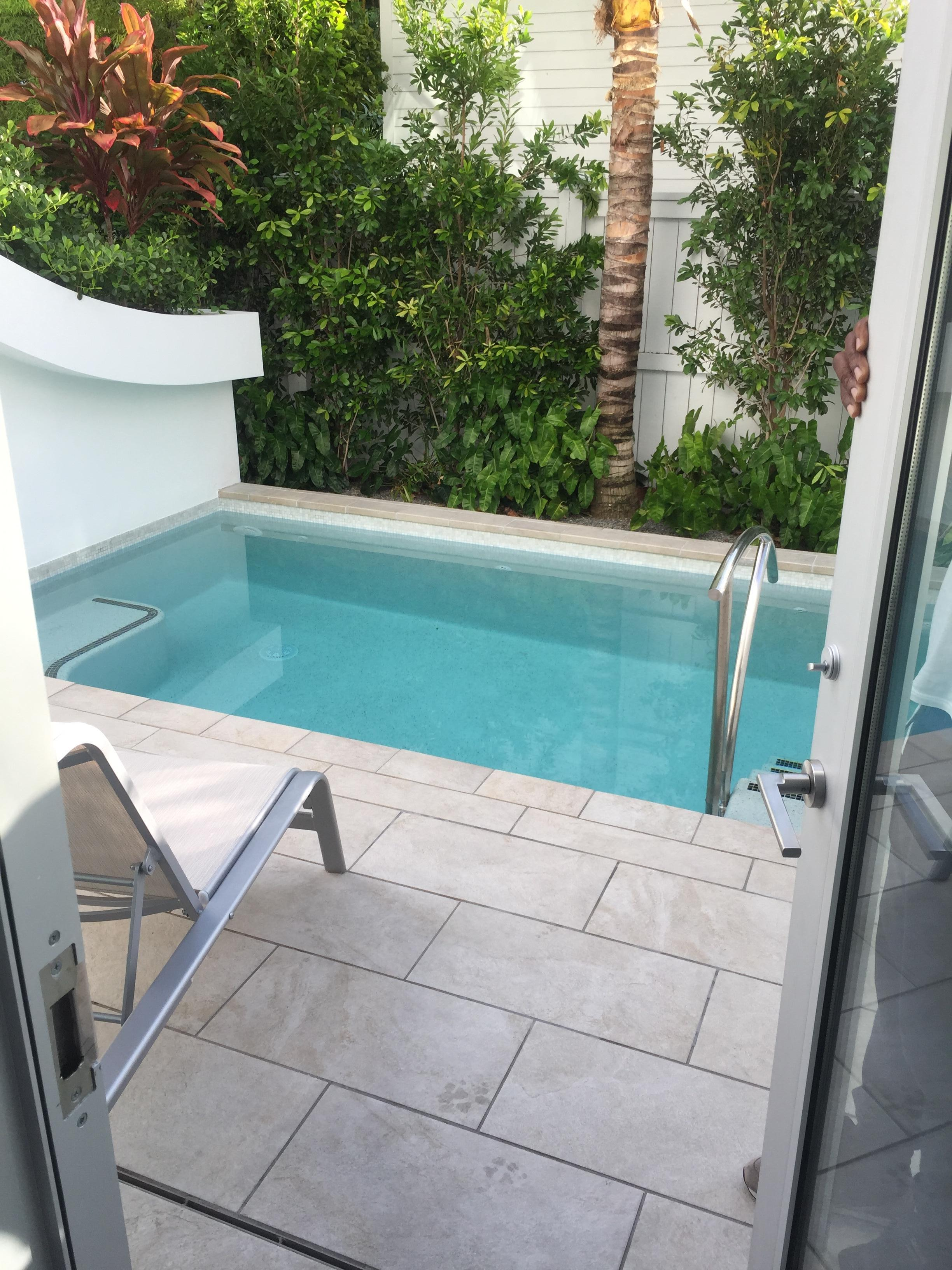 Private plunge pool daytime