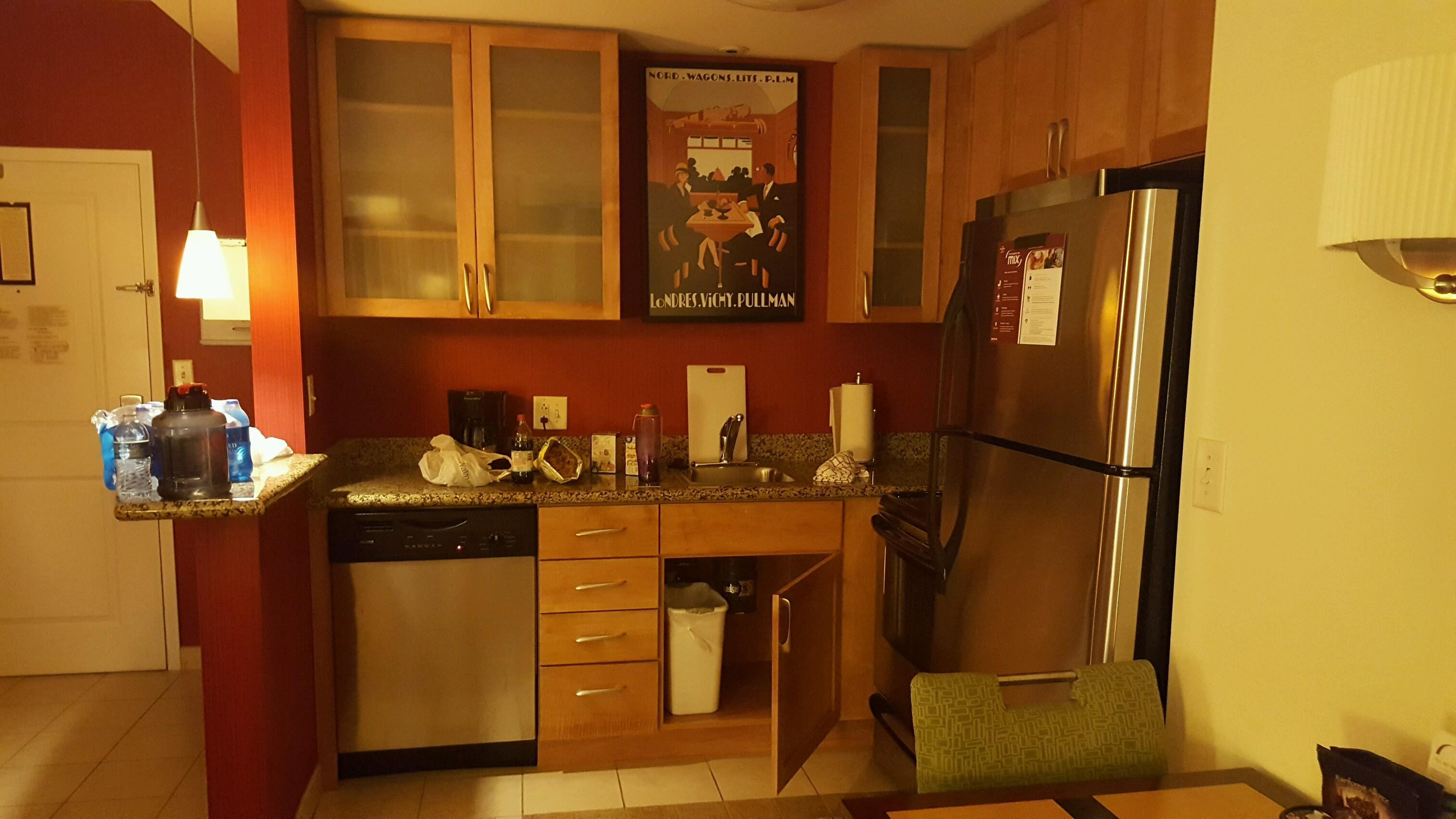 The Kitchen area.