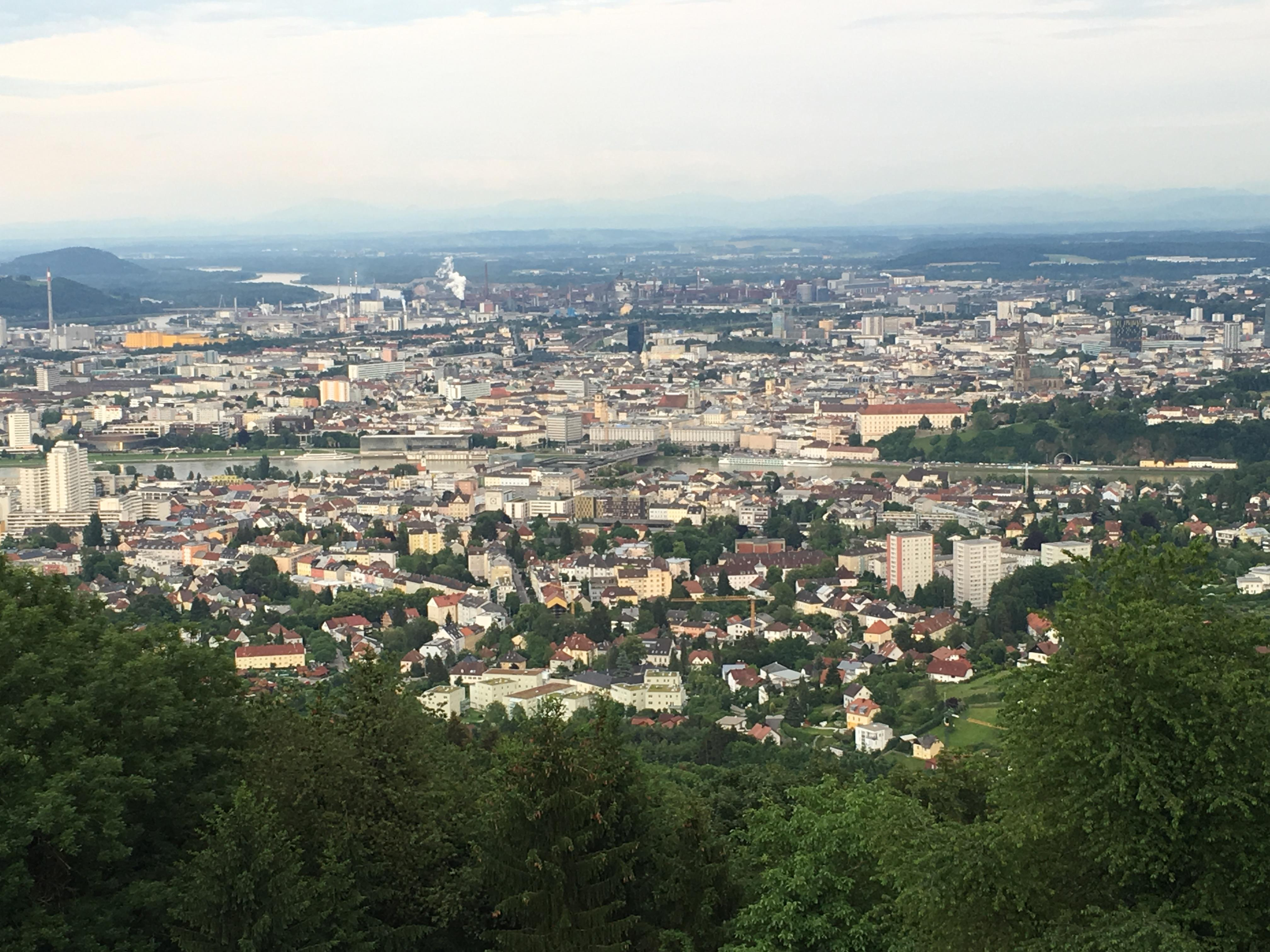 Linz from top of Postlingberg