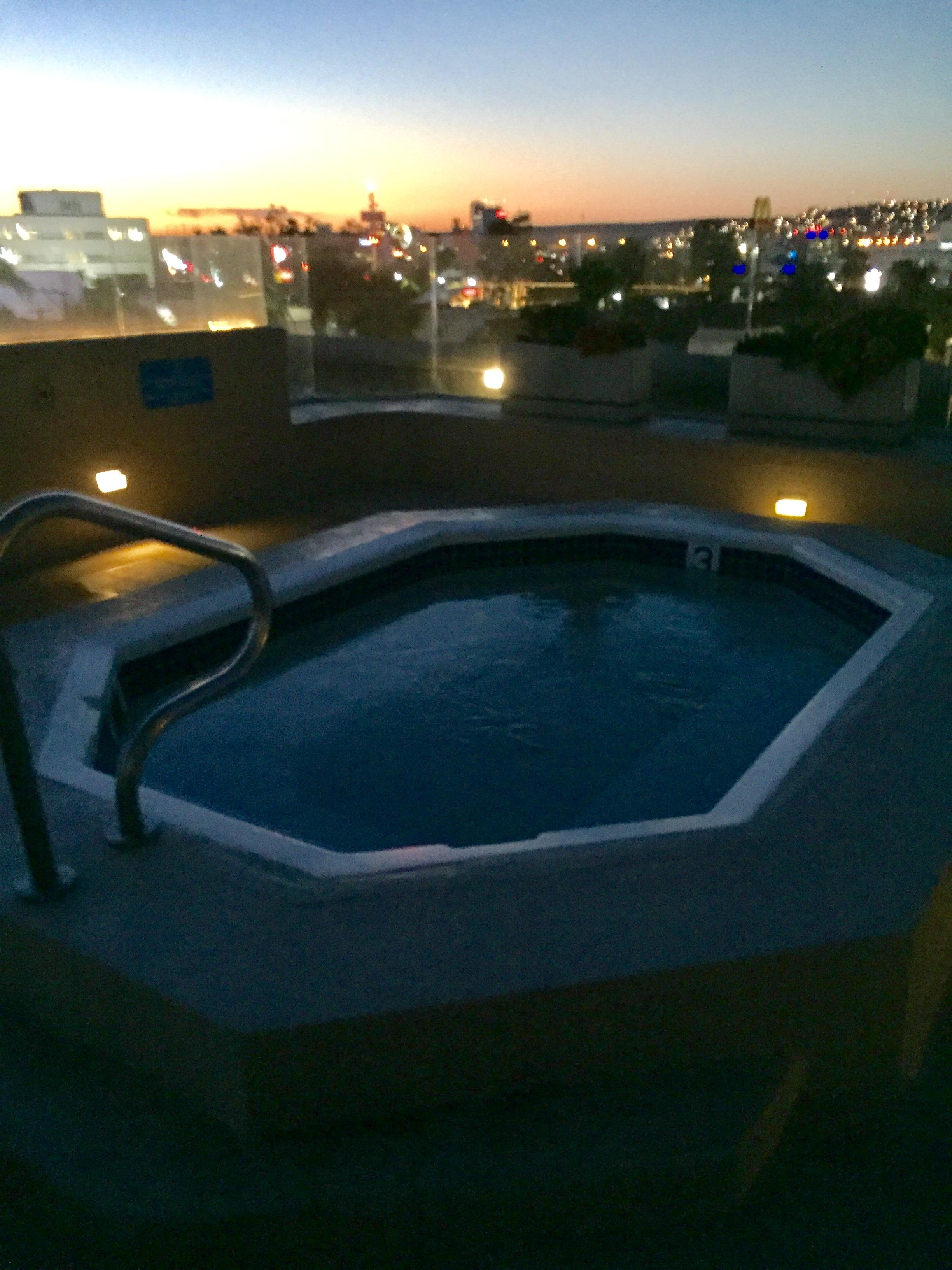 Rooftop Jacuzzi at Night