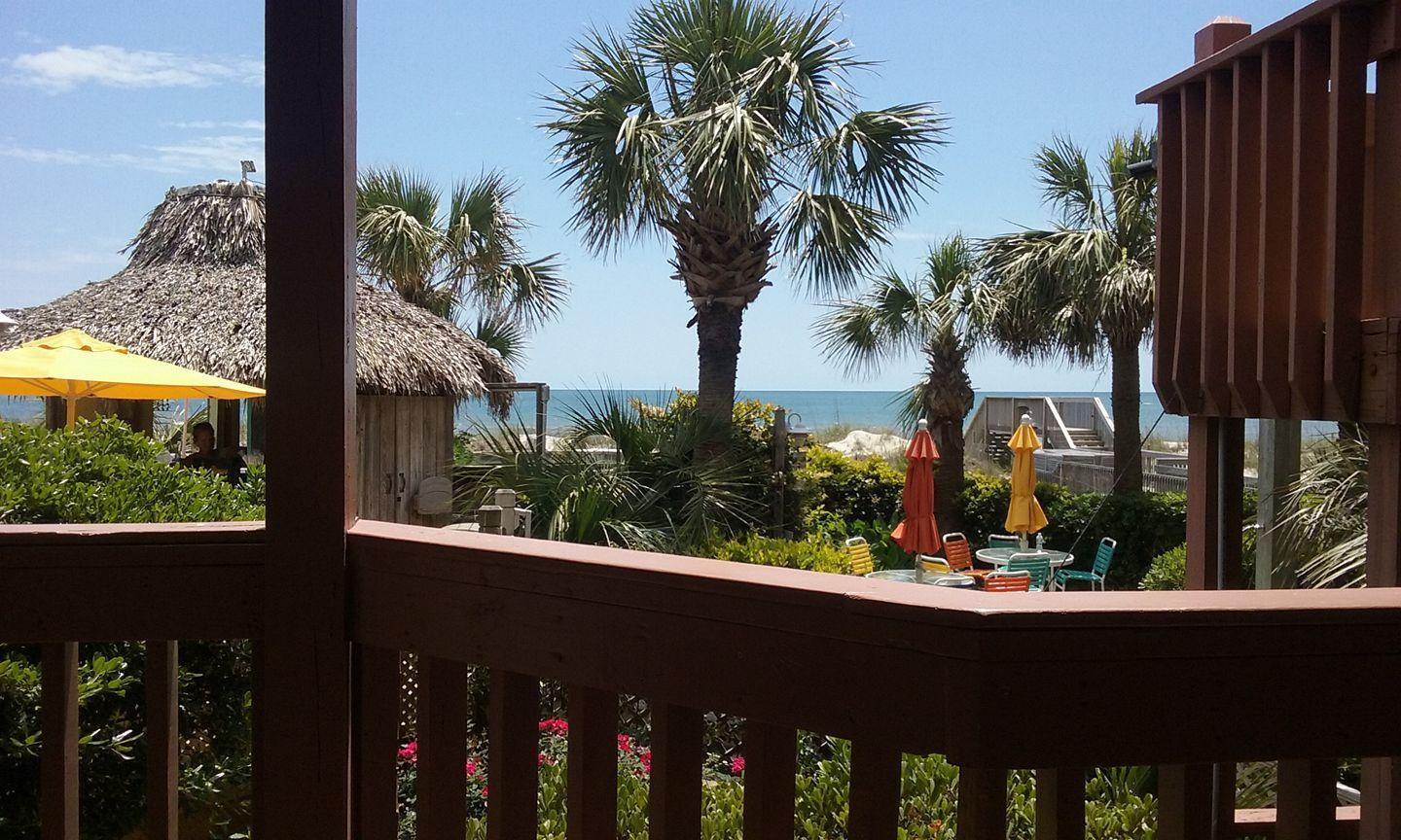 view from our deck, tiki bar/hot tub