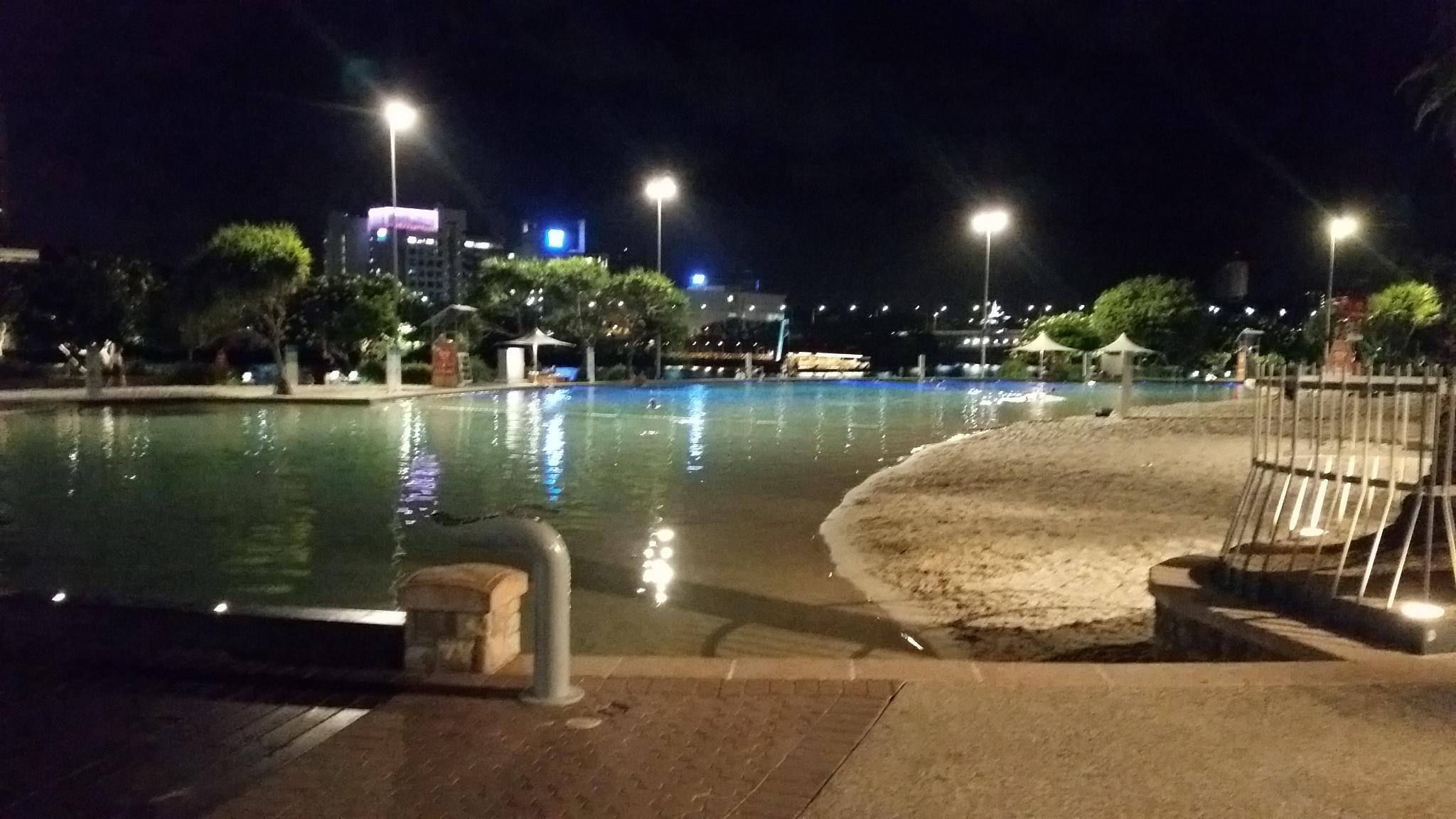 Southbank for evening swim
