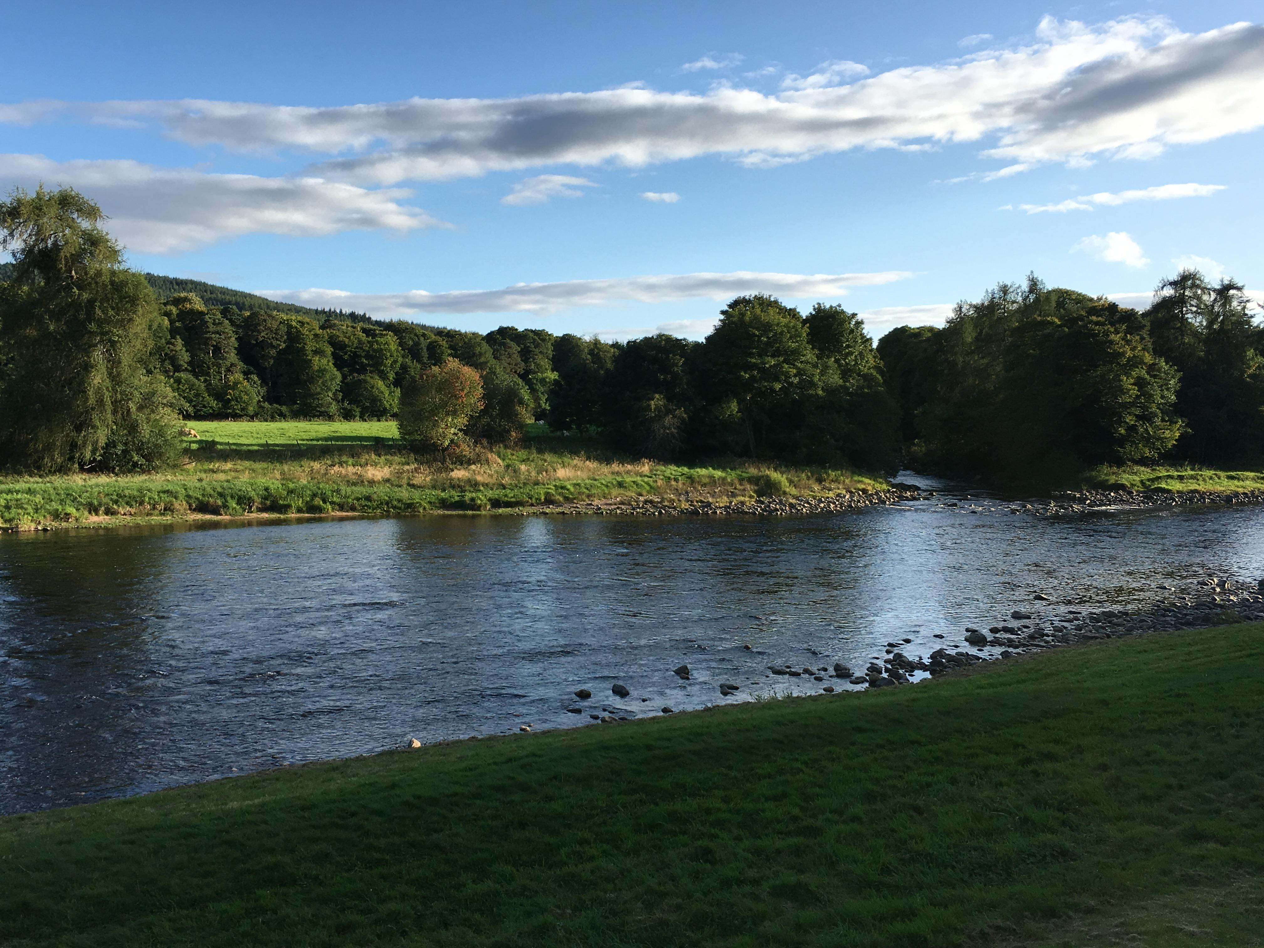 River Dee in front of the hotel