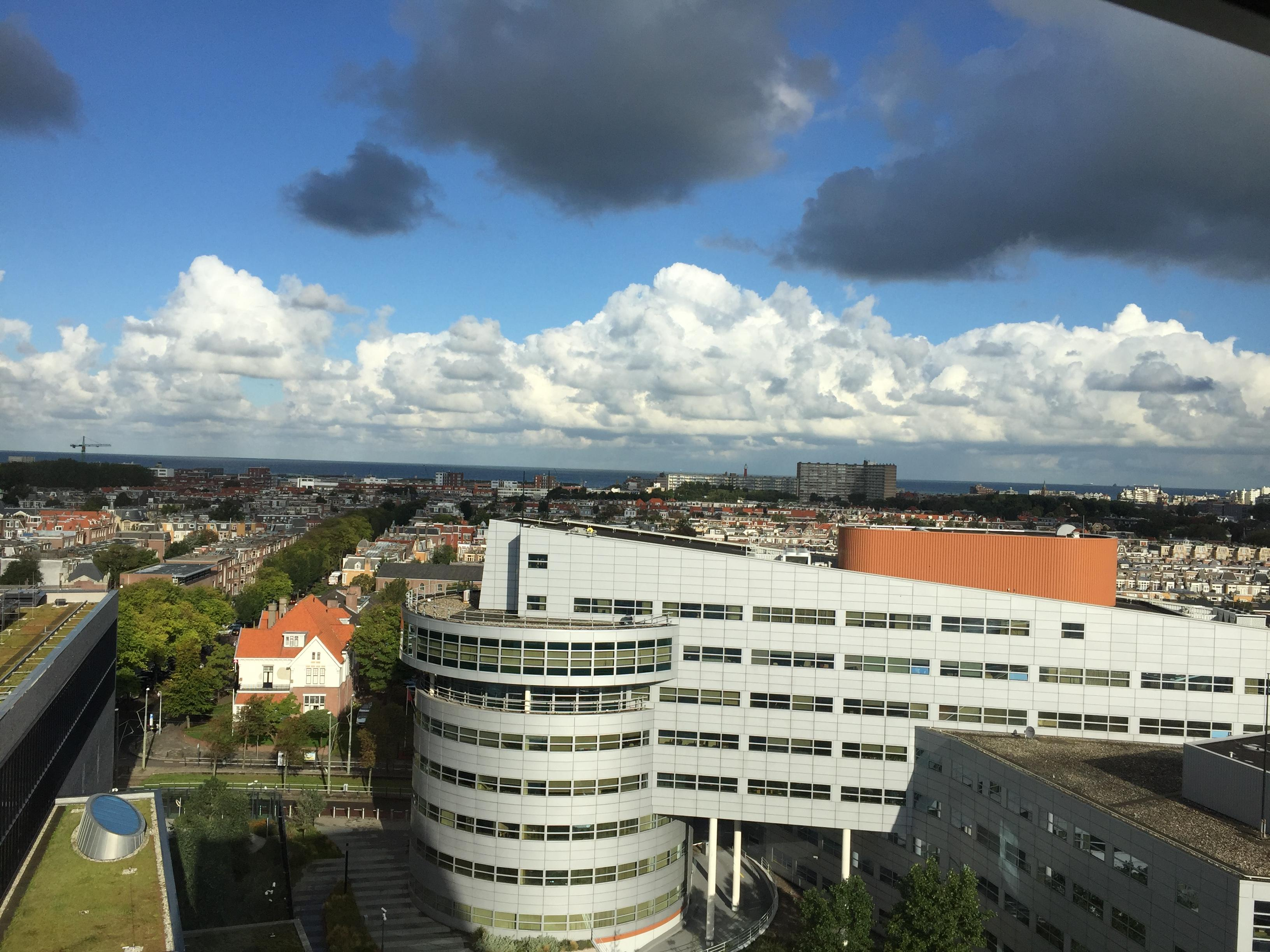 Ausblick über Den Haag bis zum Meer