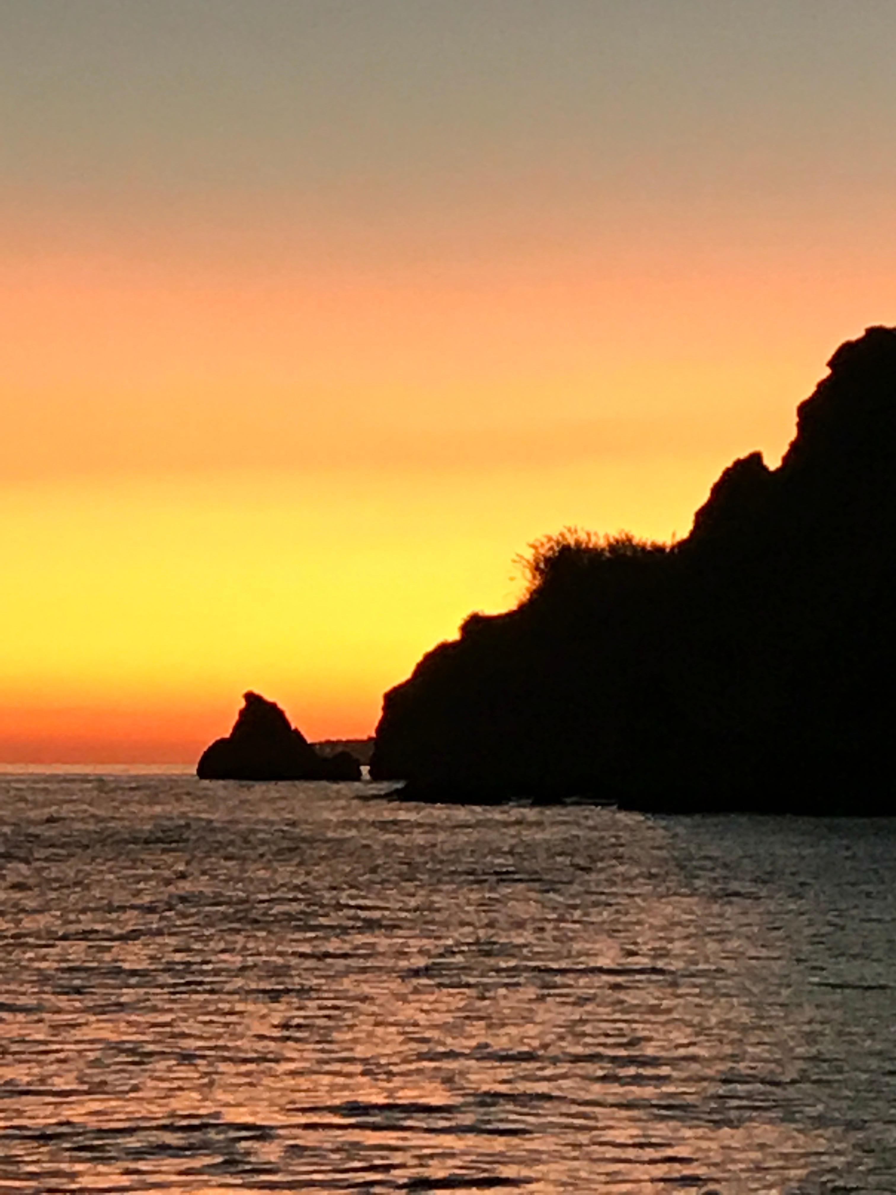 Couché de soleil, plage Mauro