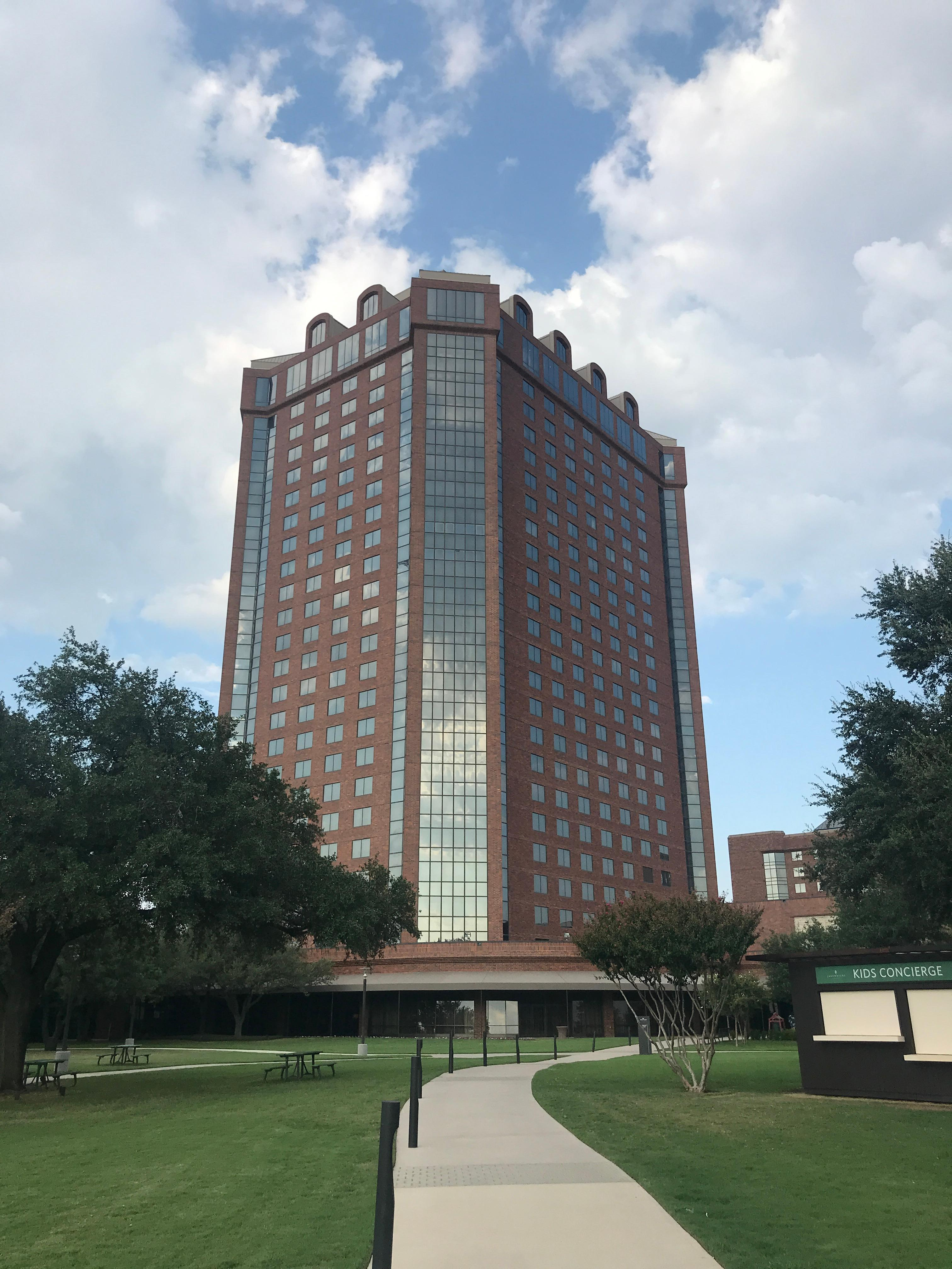One of the hotel towers