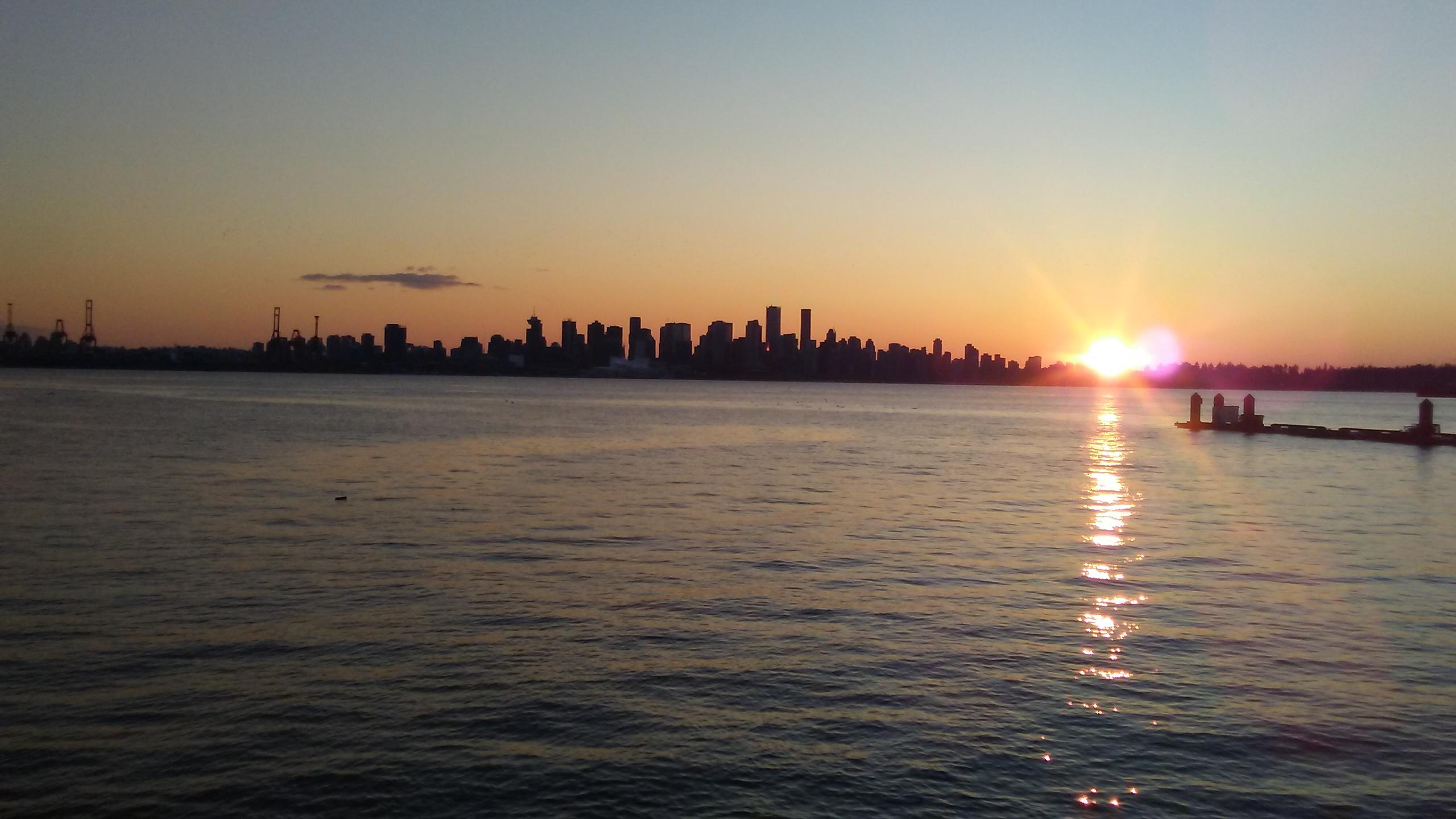 View of downtown Vancouver from the pier.