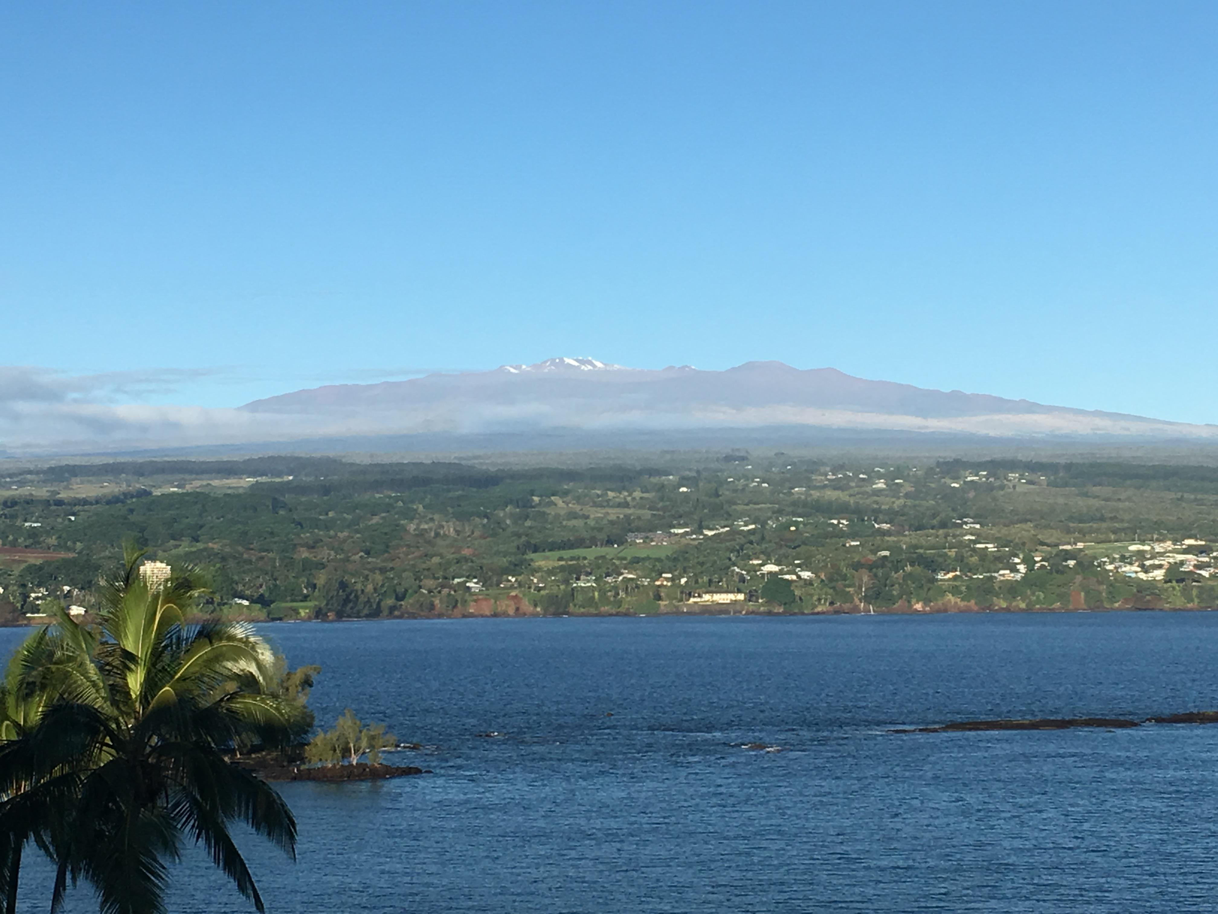 View of Mauna Kea from our lanai.