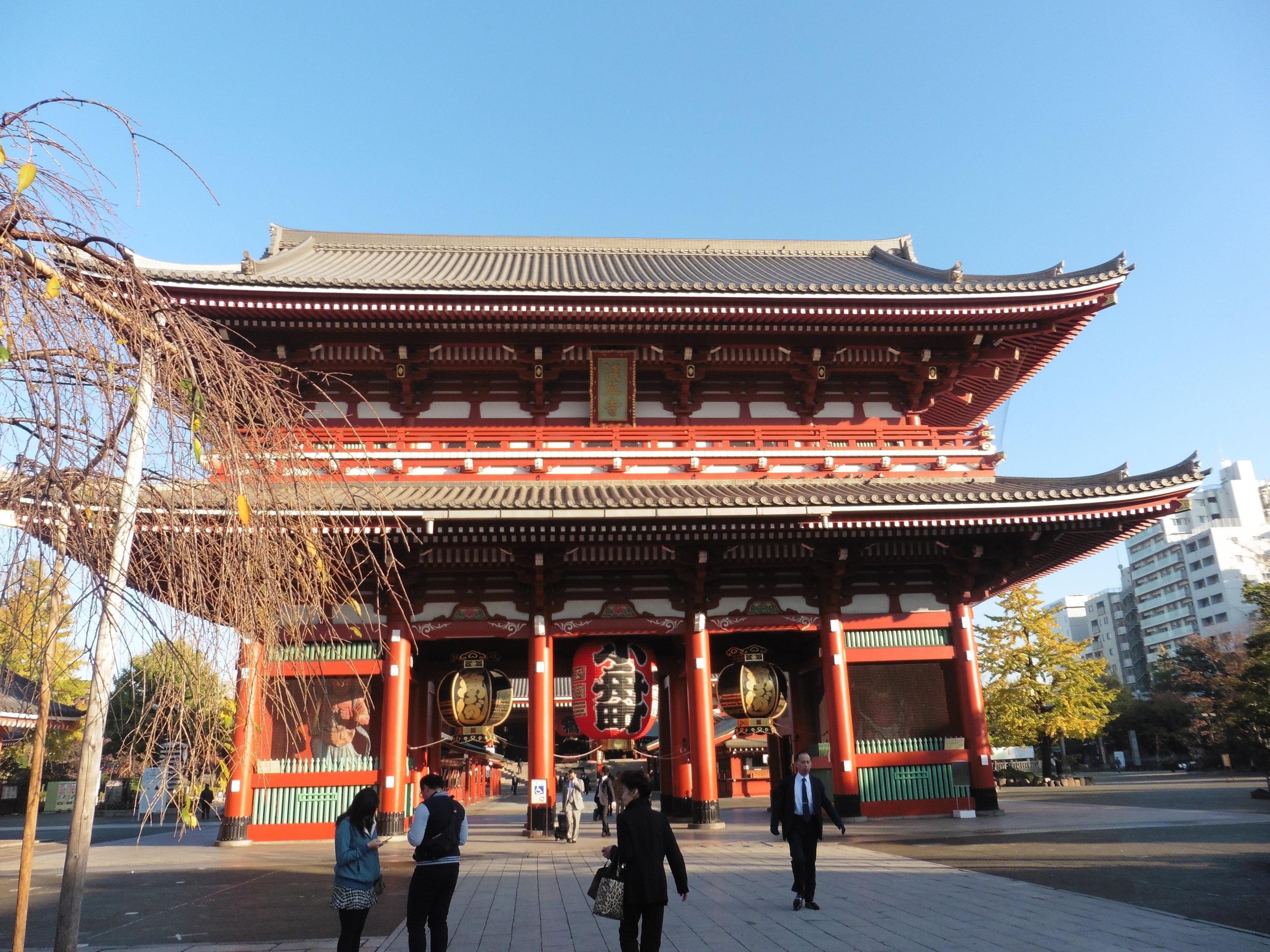 Nearby Senso-ji temple