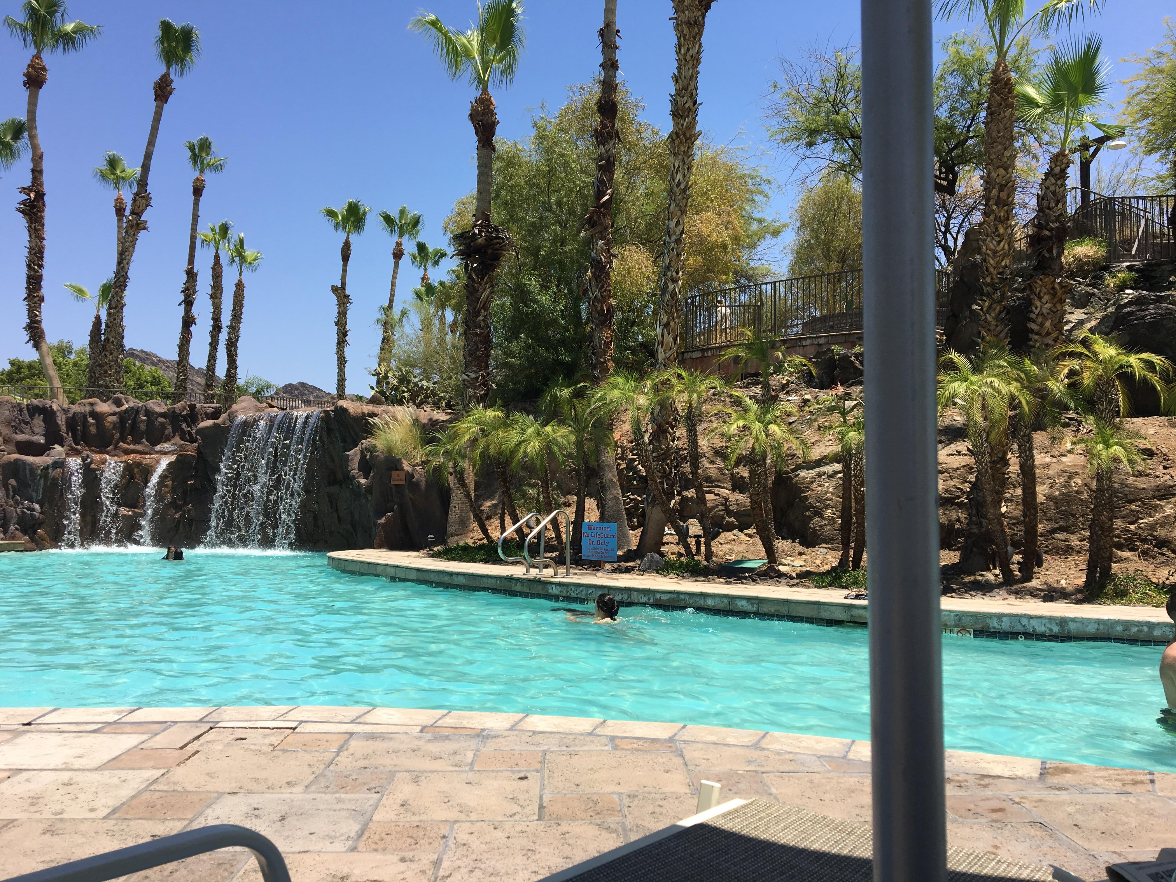 River Ranch main pool. Waterfall was fun.