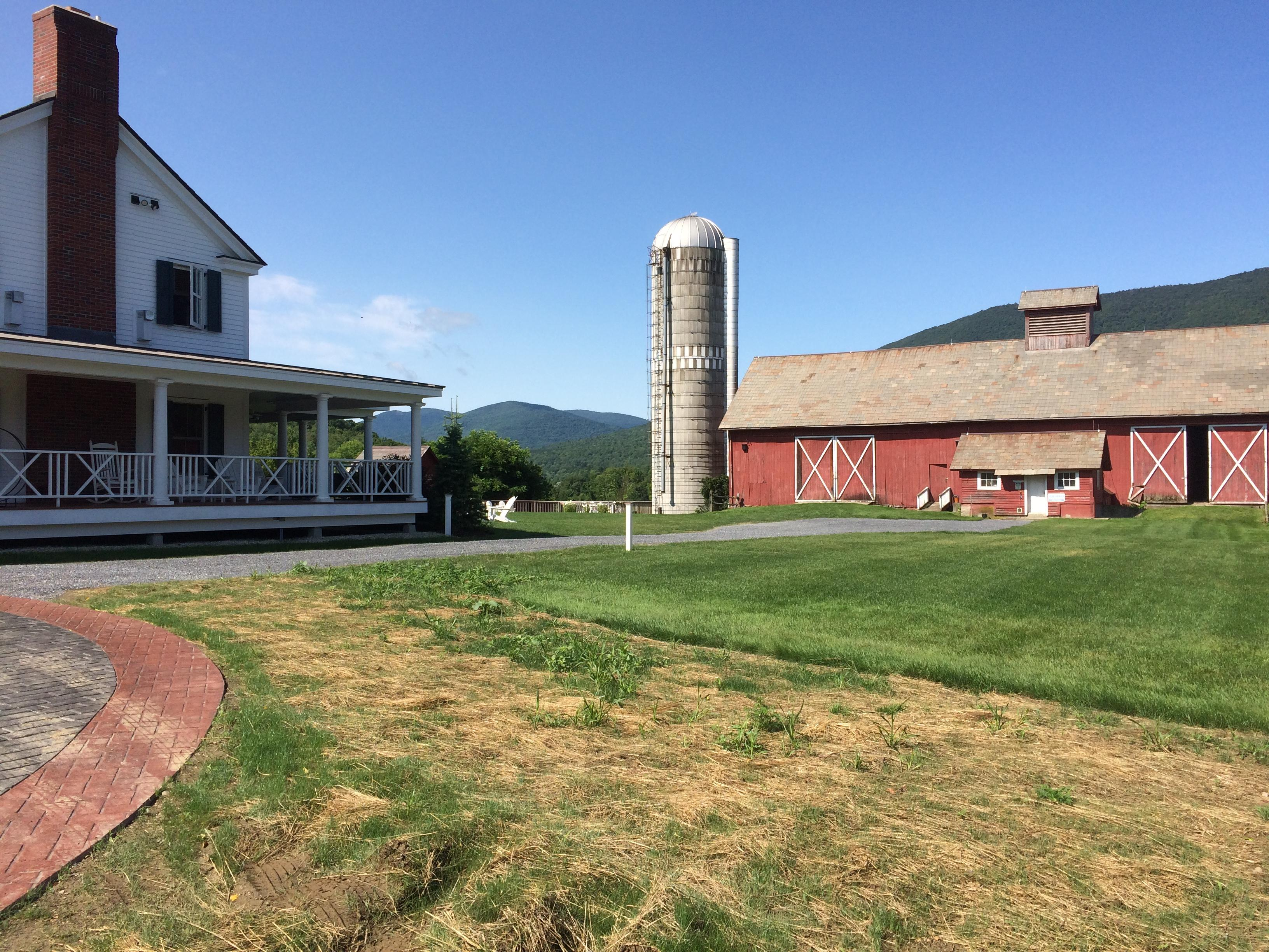 The barn with farm animals to visit.