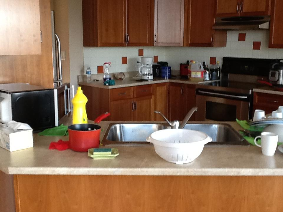 Kitchen AFTER cleaning