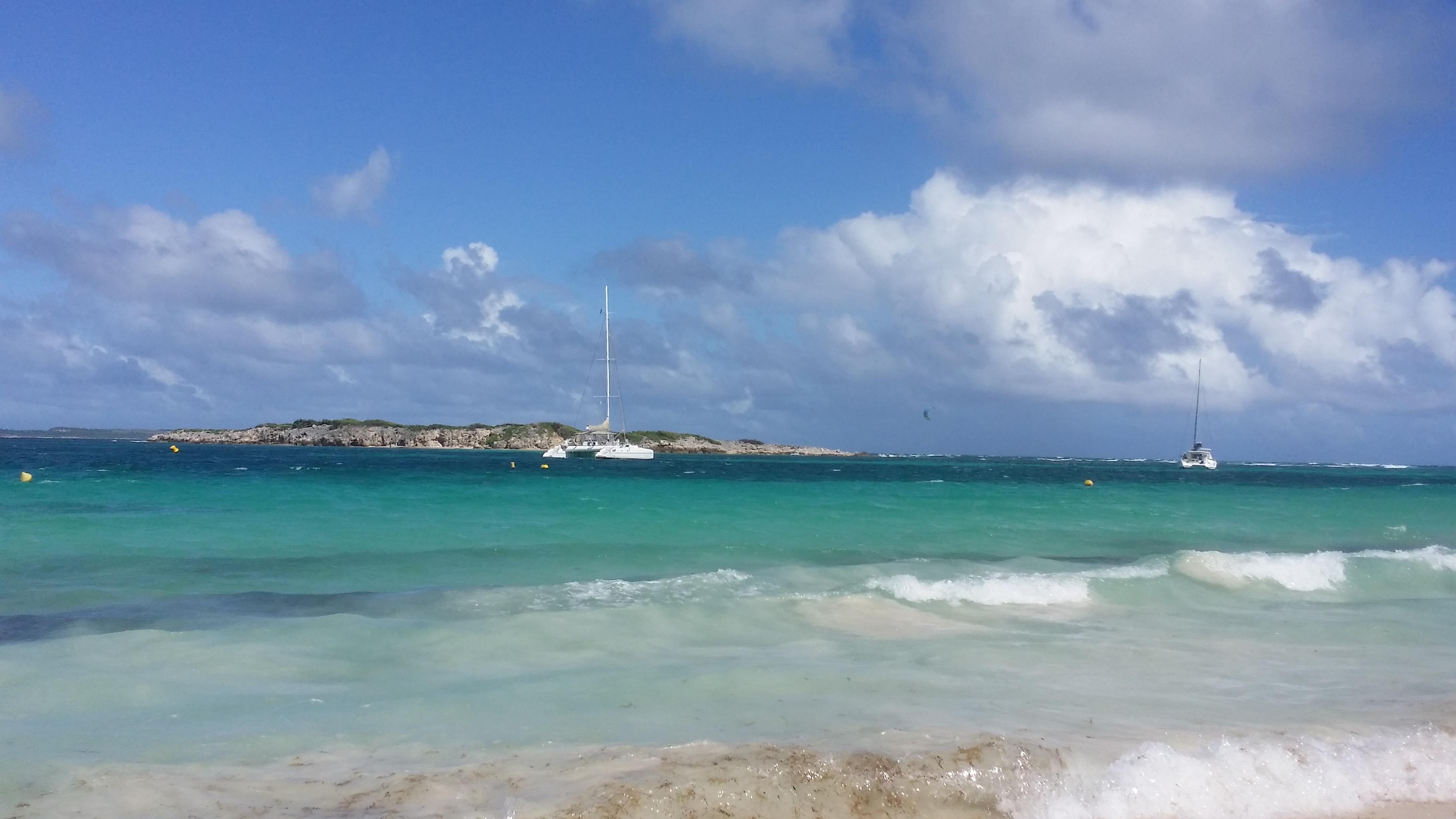 View of St. Barts from Dawn Beach