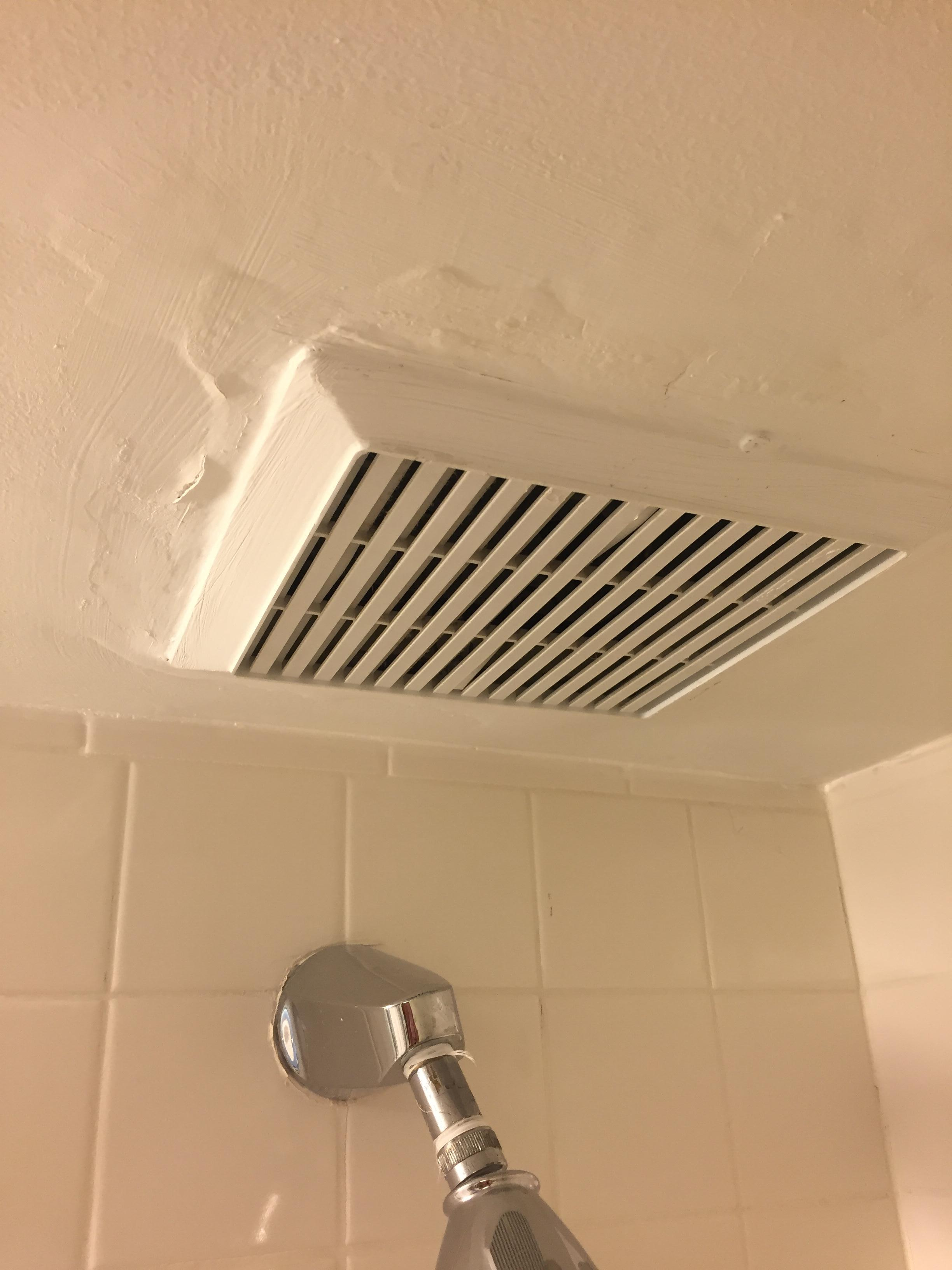 Vent in shower-barely held in ceiling