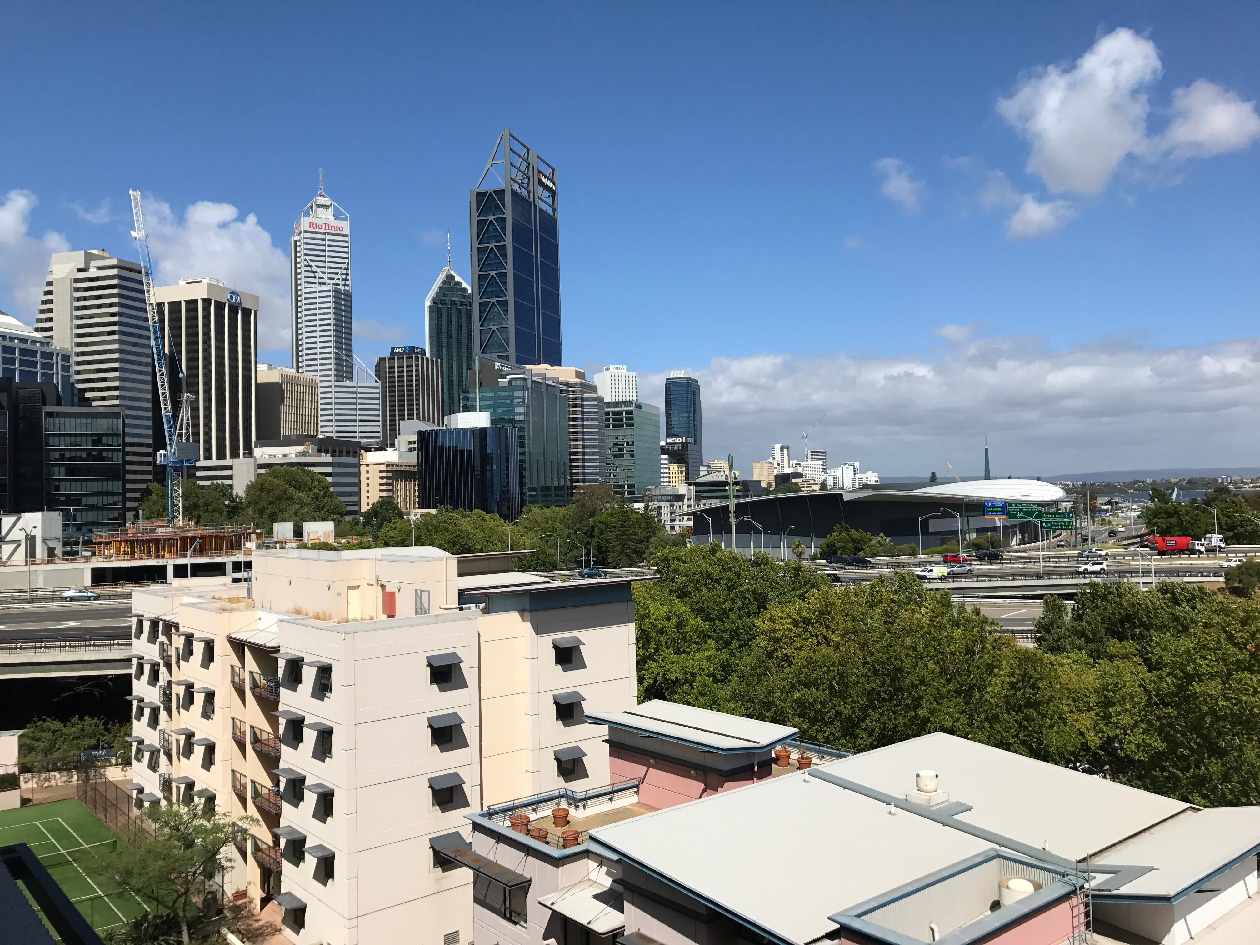 Blick auf Perth CBD
