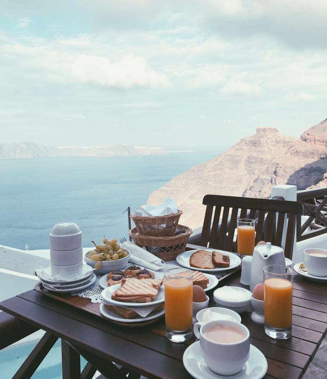 Breakfast with a magic view