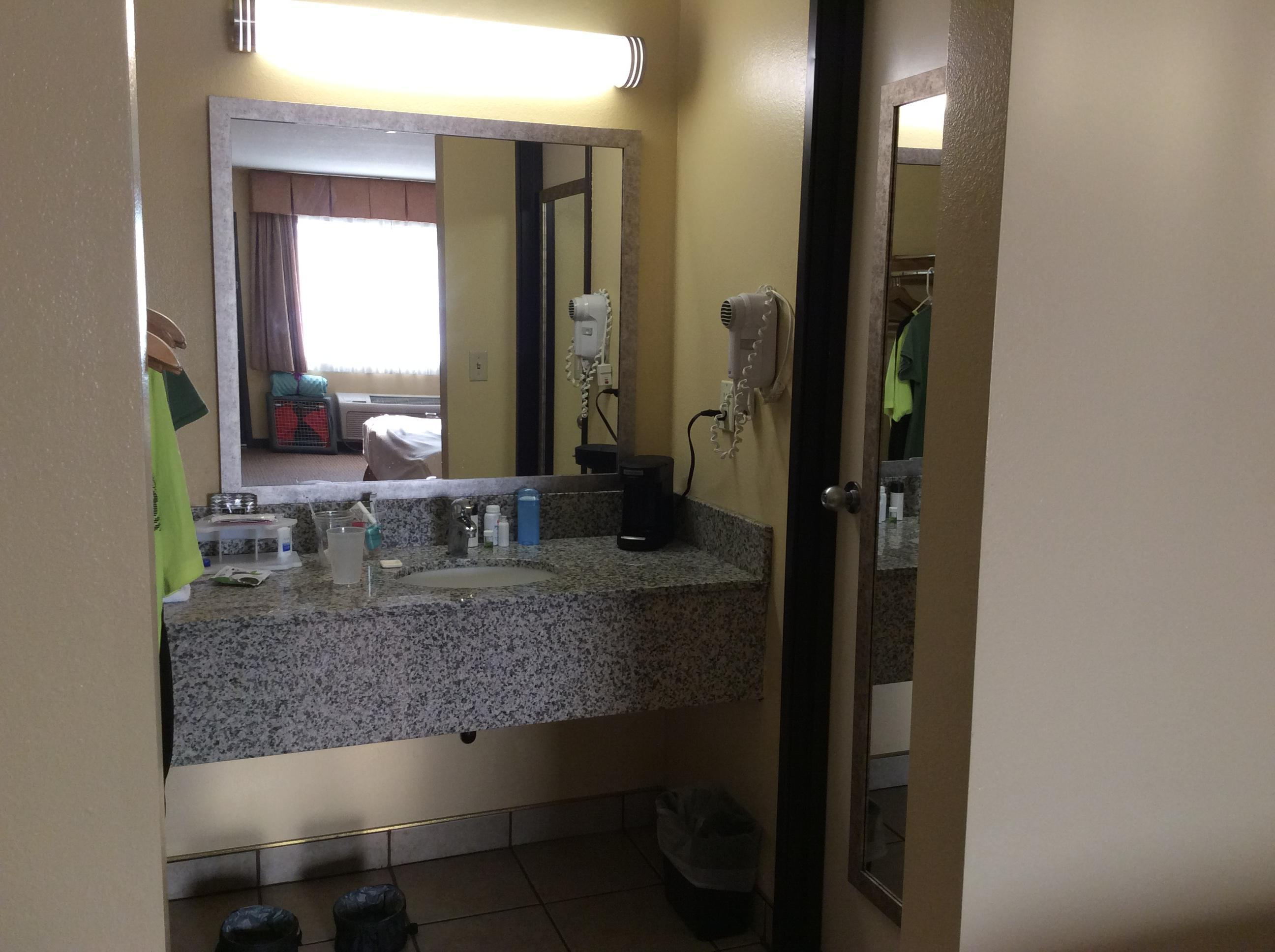 Sink area and coffee maker