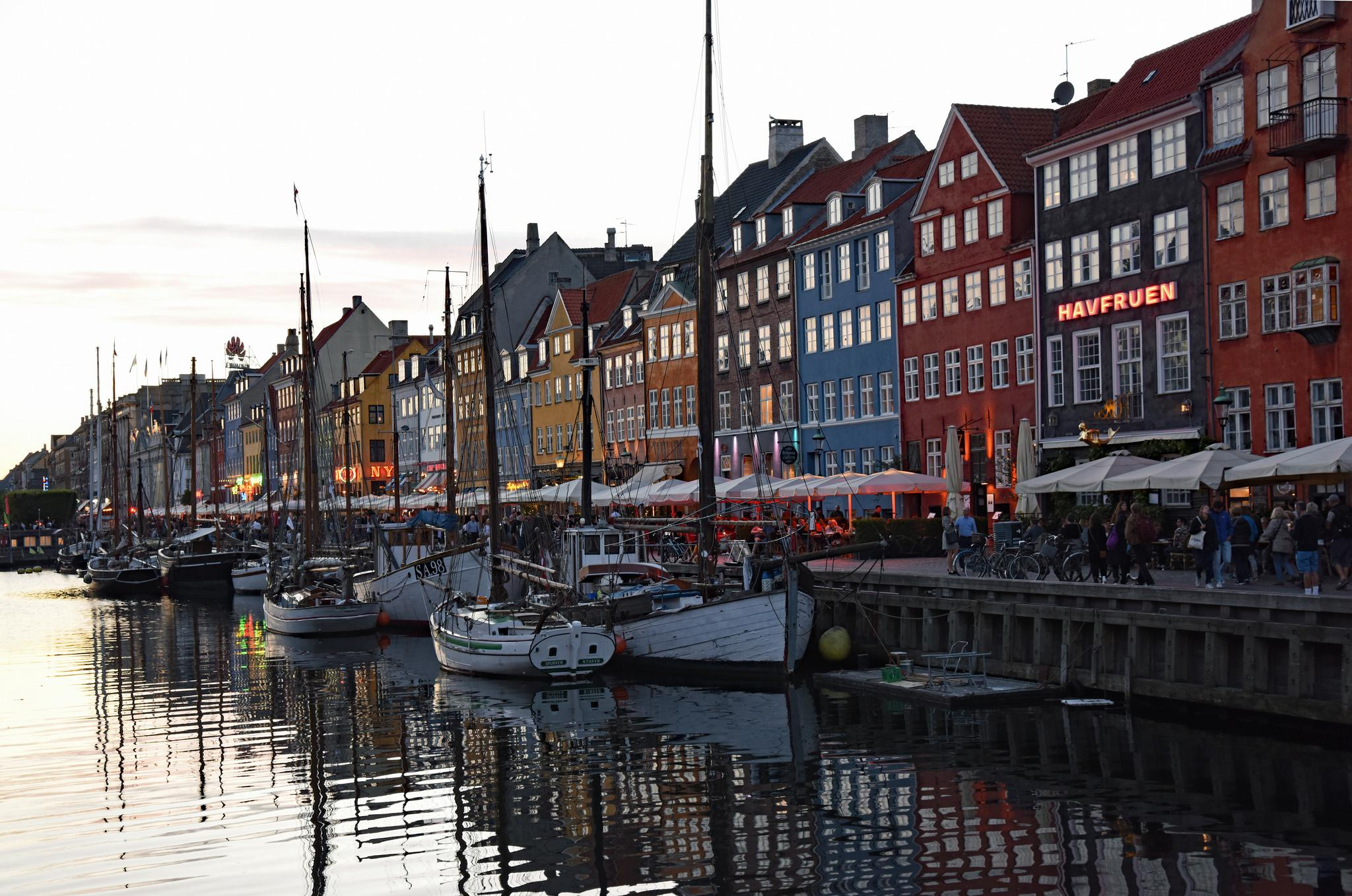 Nyhavn at Nightfall