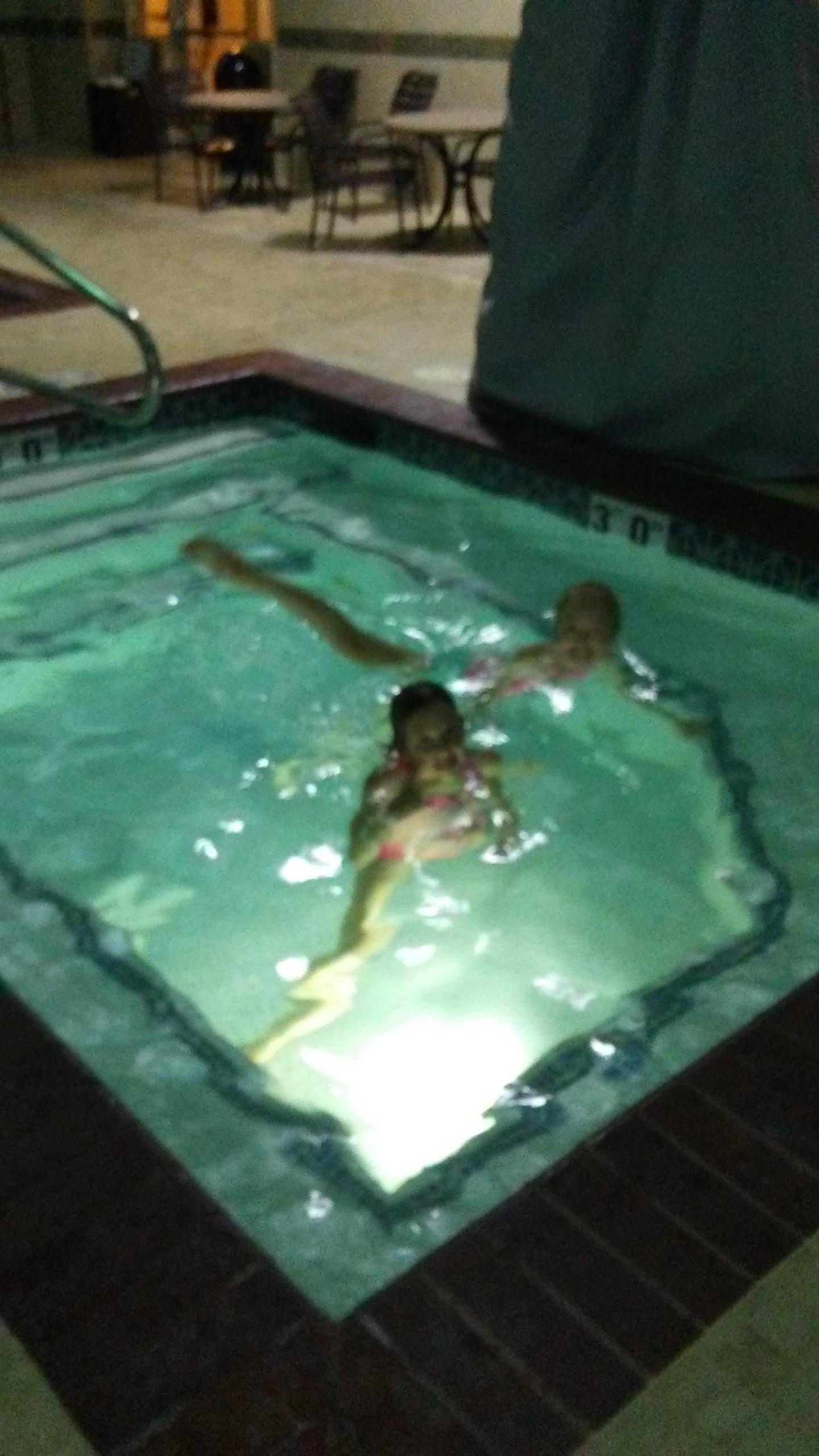 My sister and niece came to visit and swim also