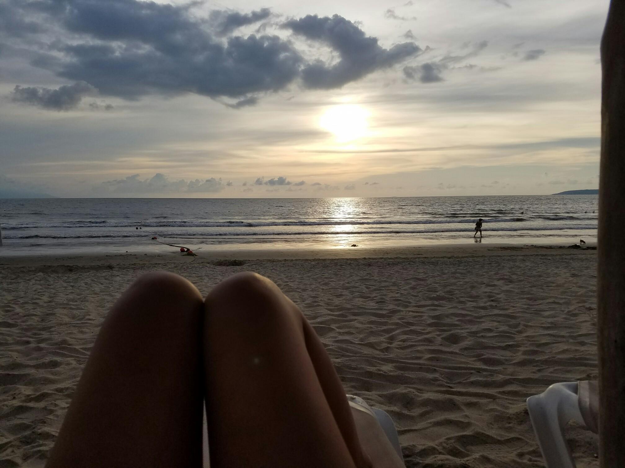 The Beautiful Beach before Sunset