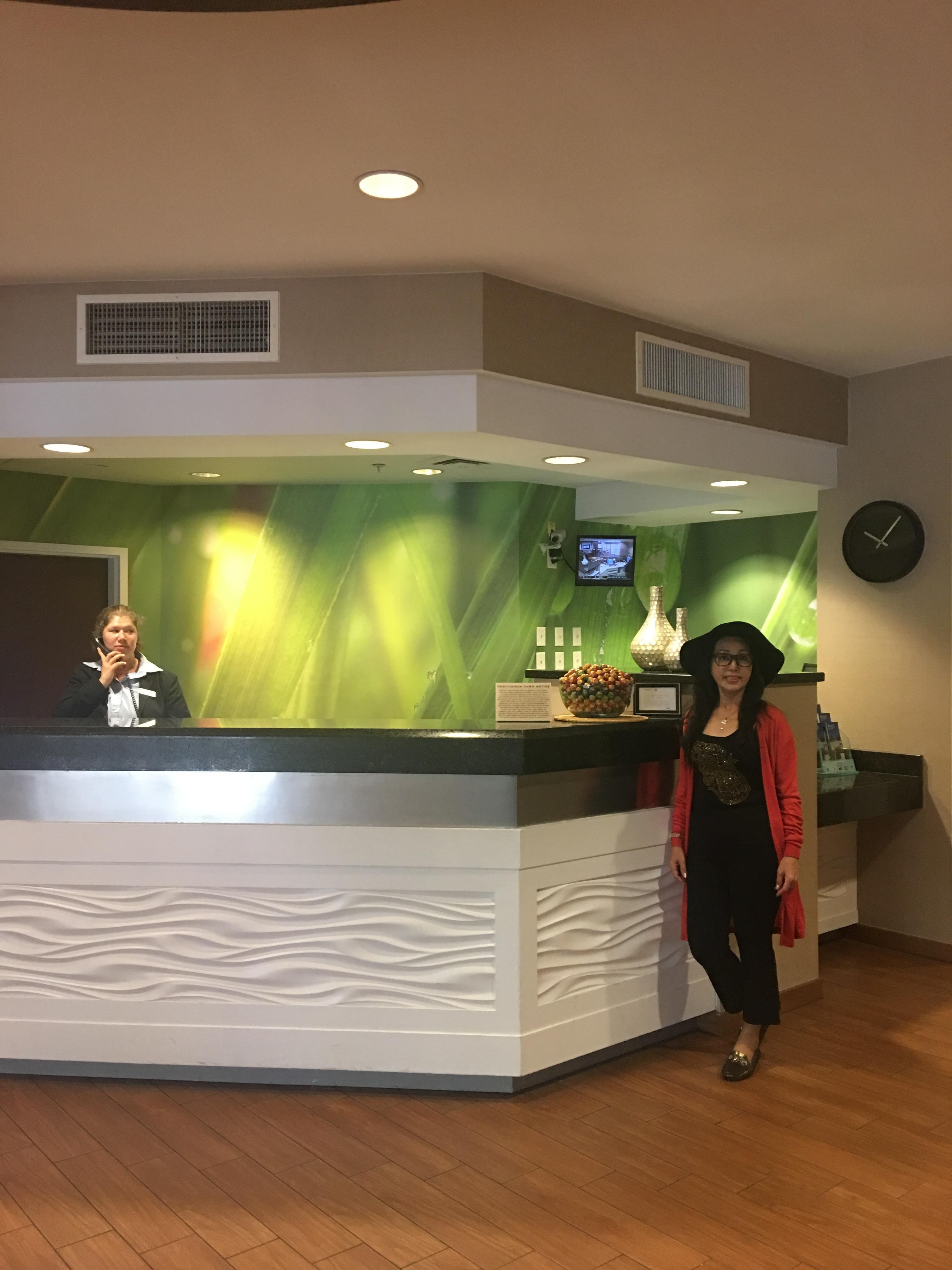 Reception counter of the hotel..