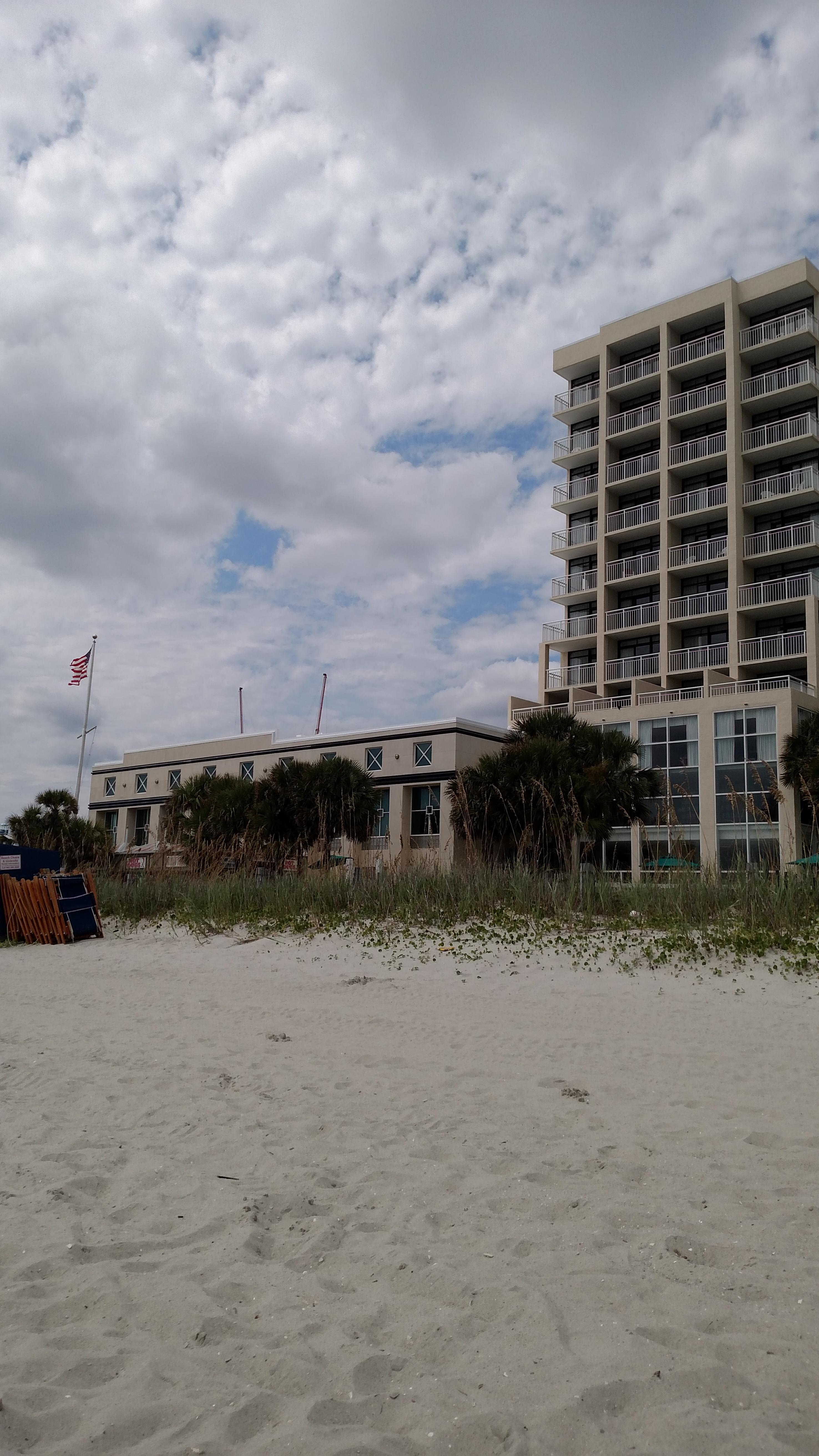 Hotel view from the beach.