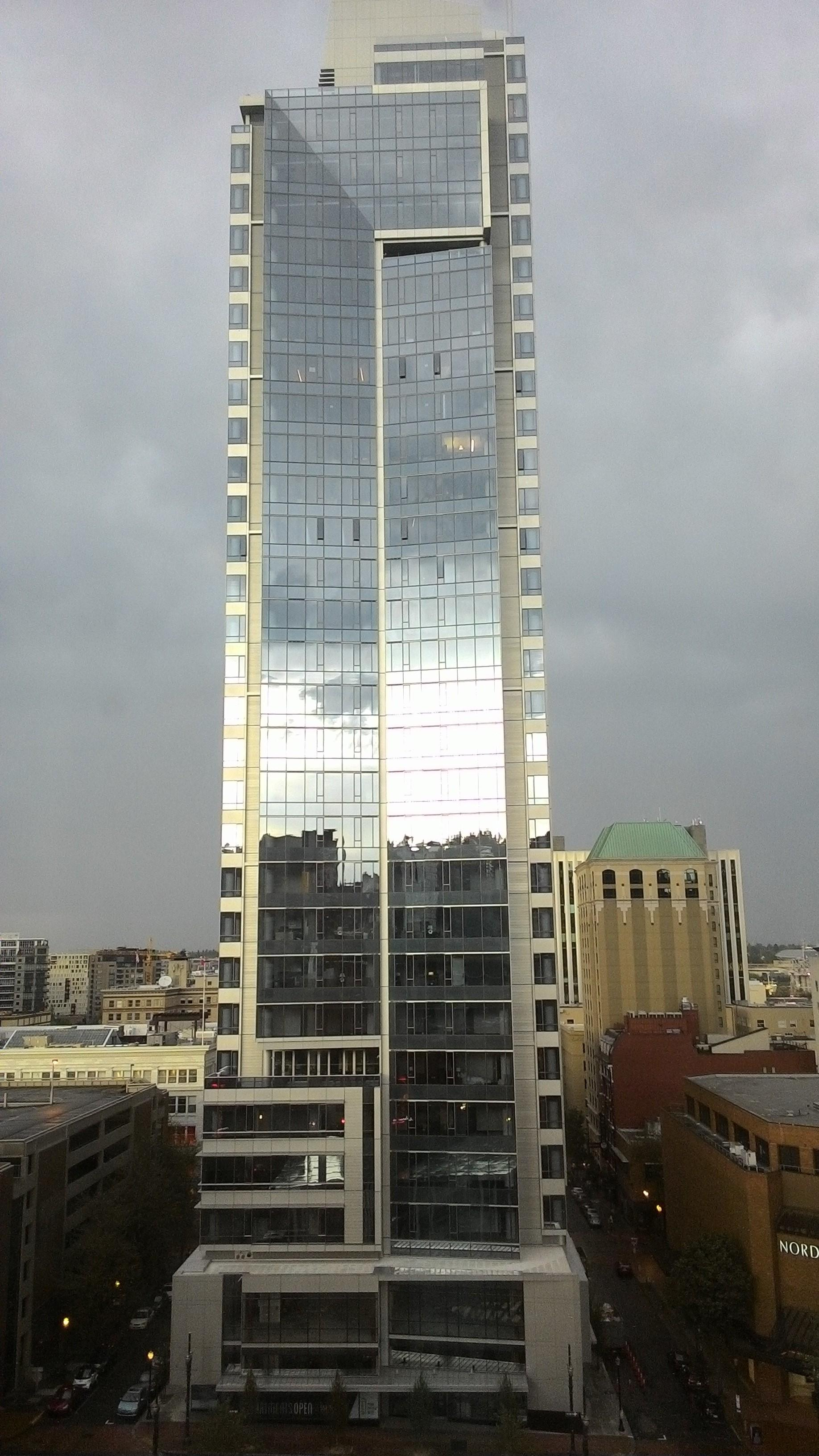 VIew from 11th floor corner room