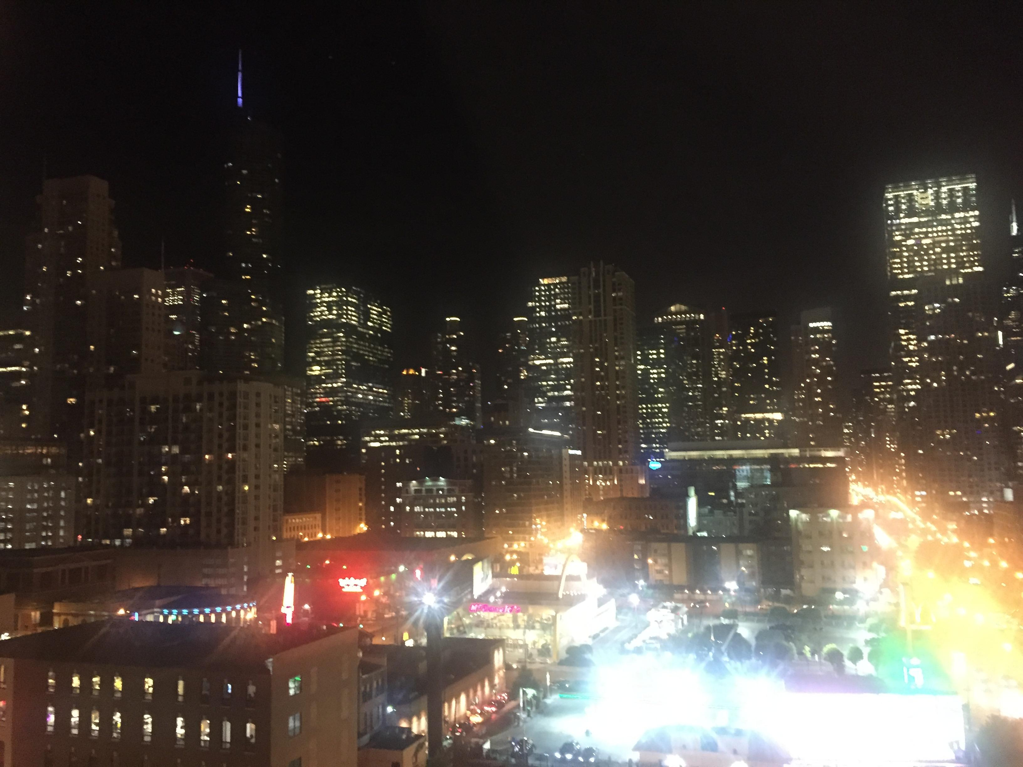 Nighttime view from the room