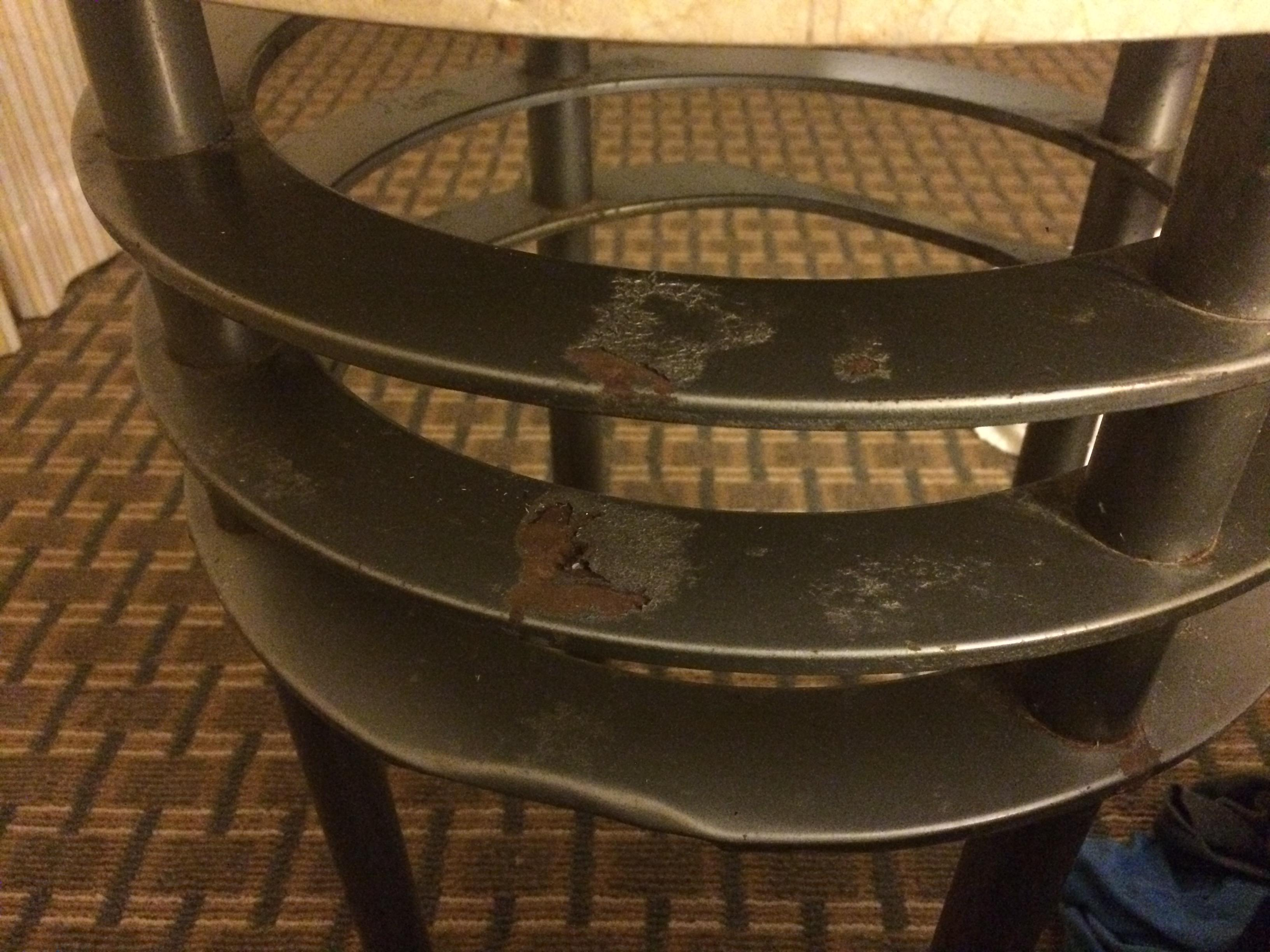 Side table in the room