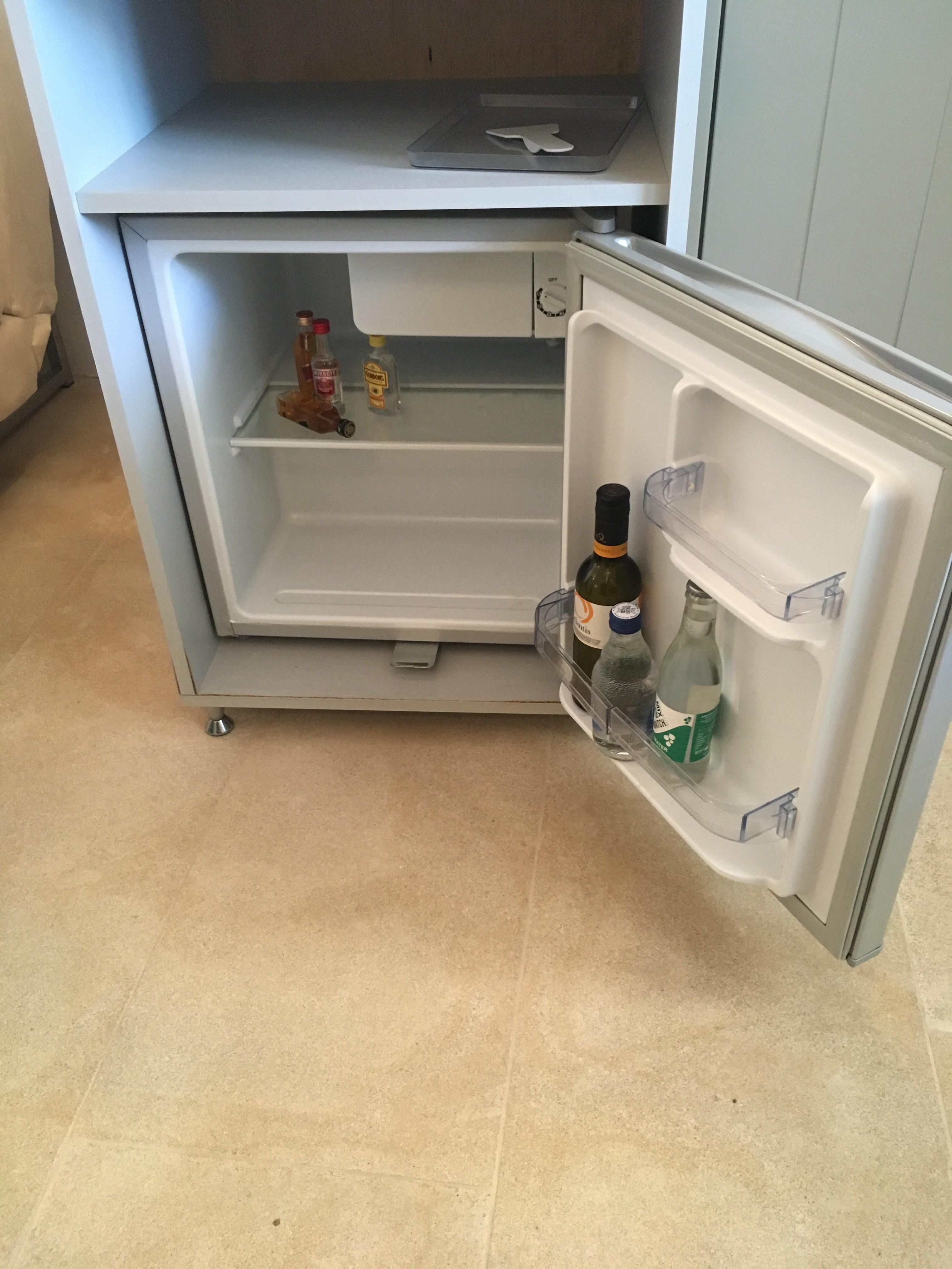 Our minibar on arrival. It was never restocked.