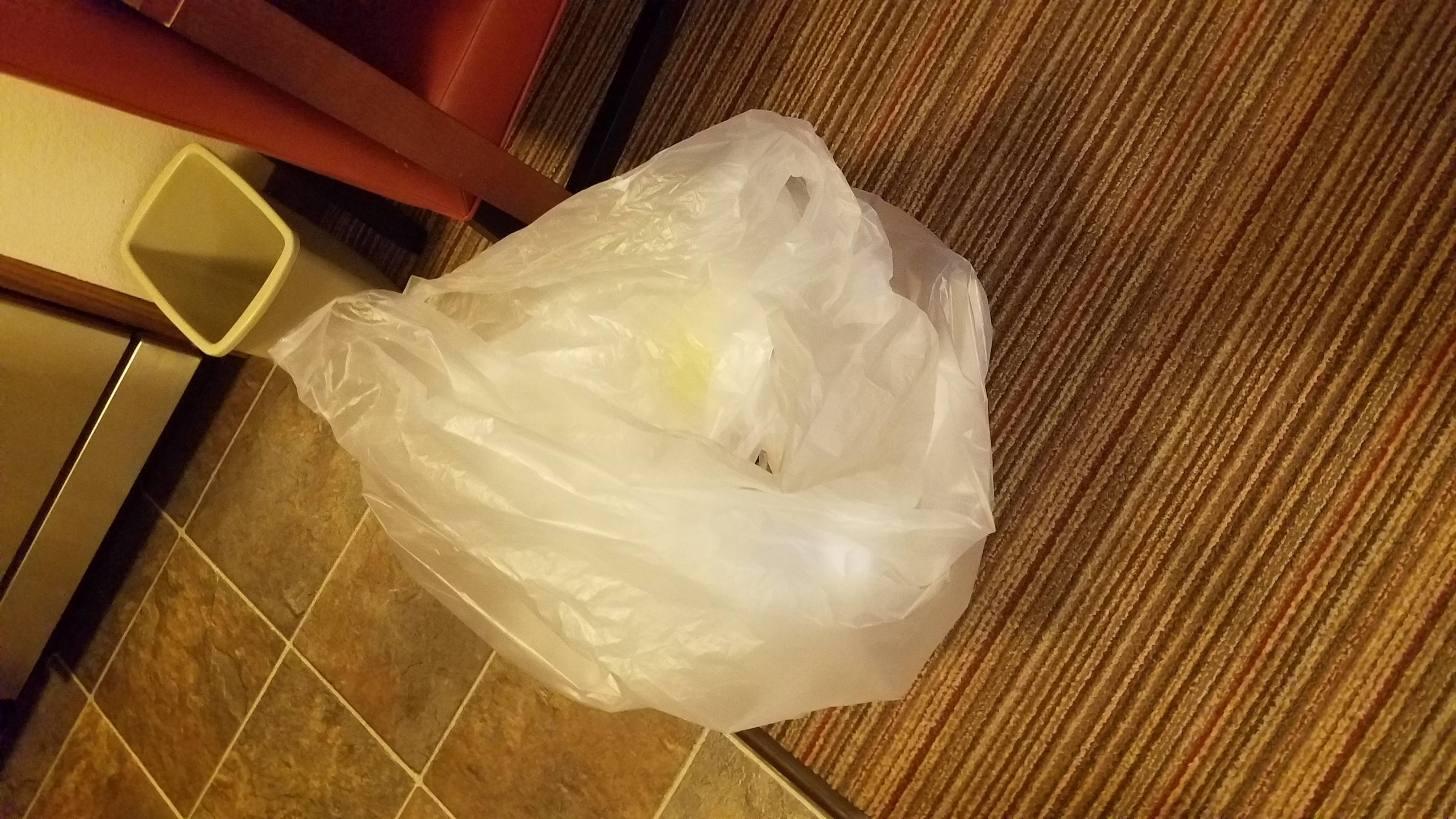 The bag they gave me to empty my own trash