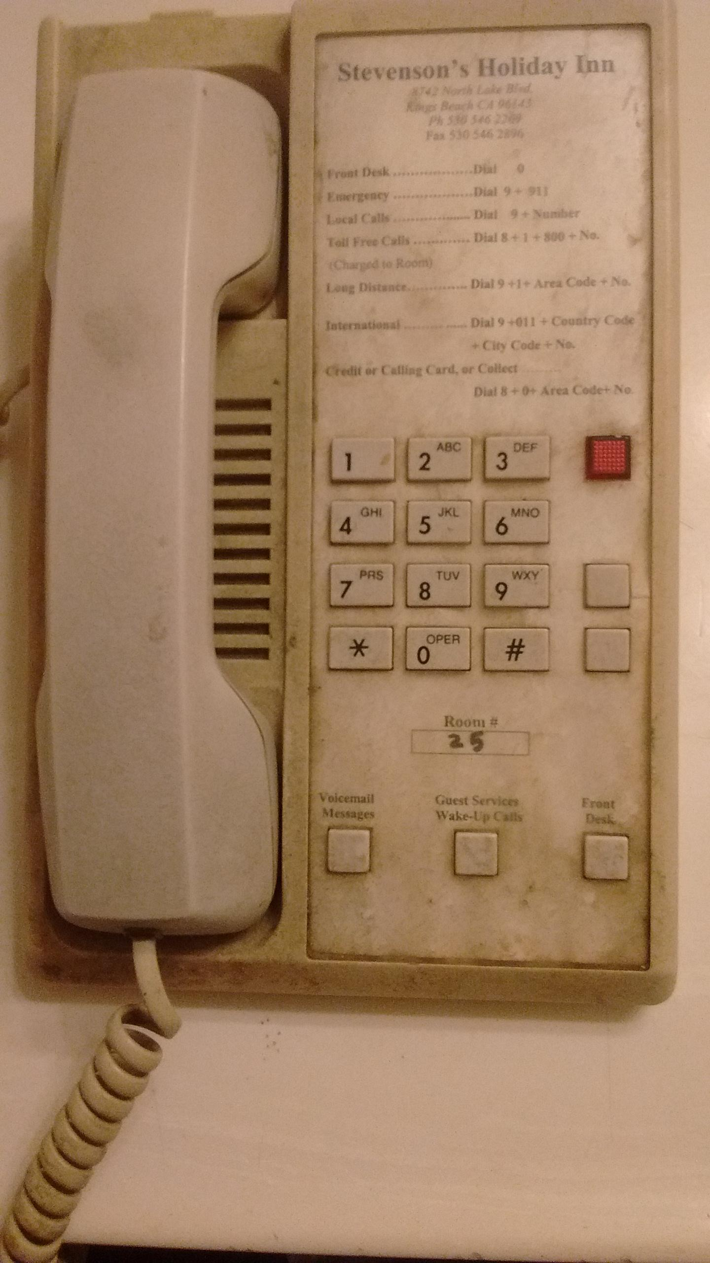 Typical telephone in room