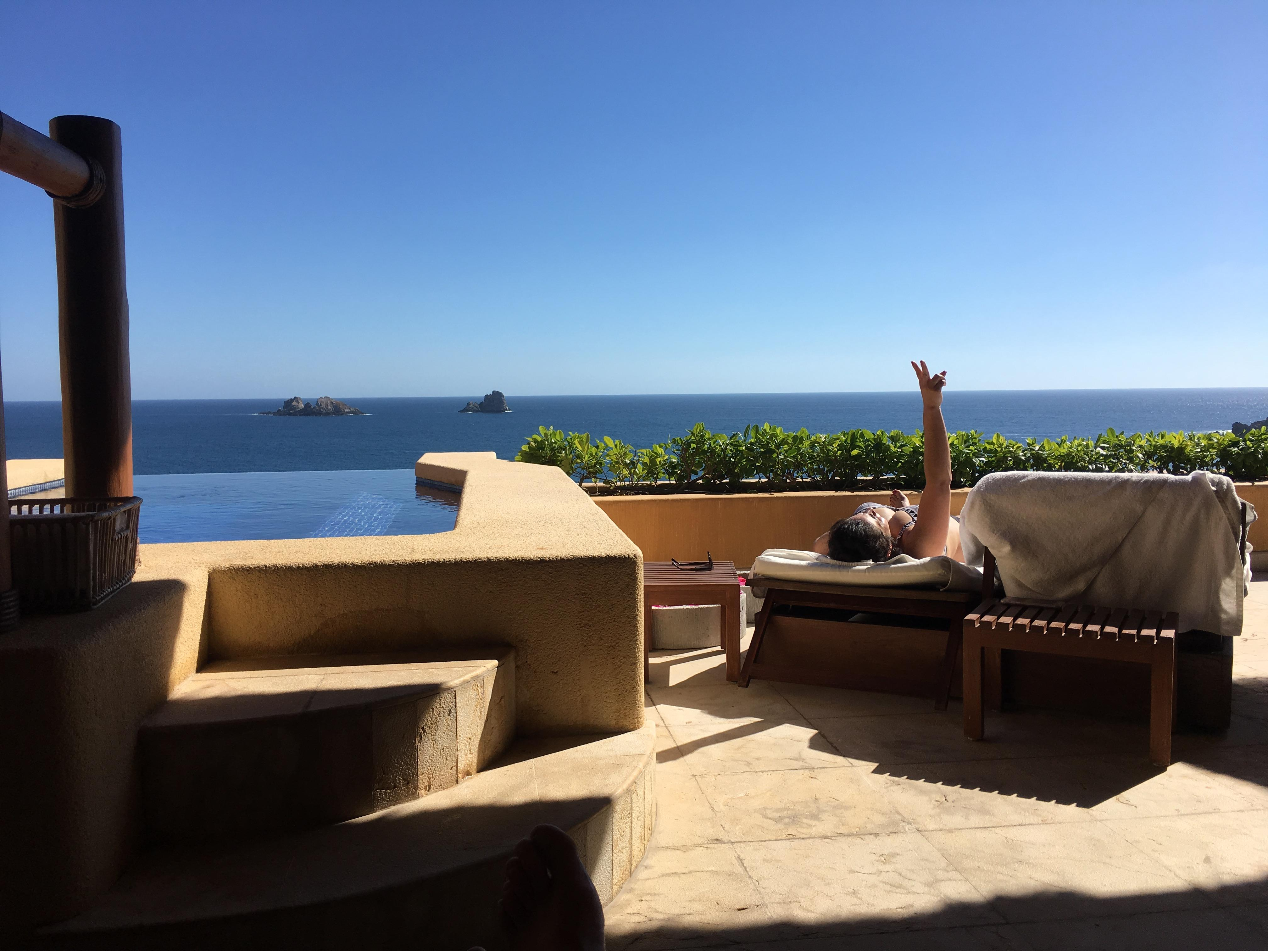 Private in room infinity pool