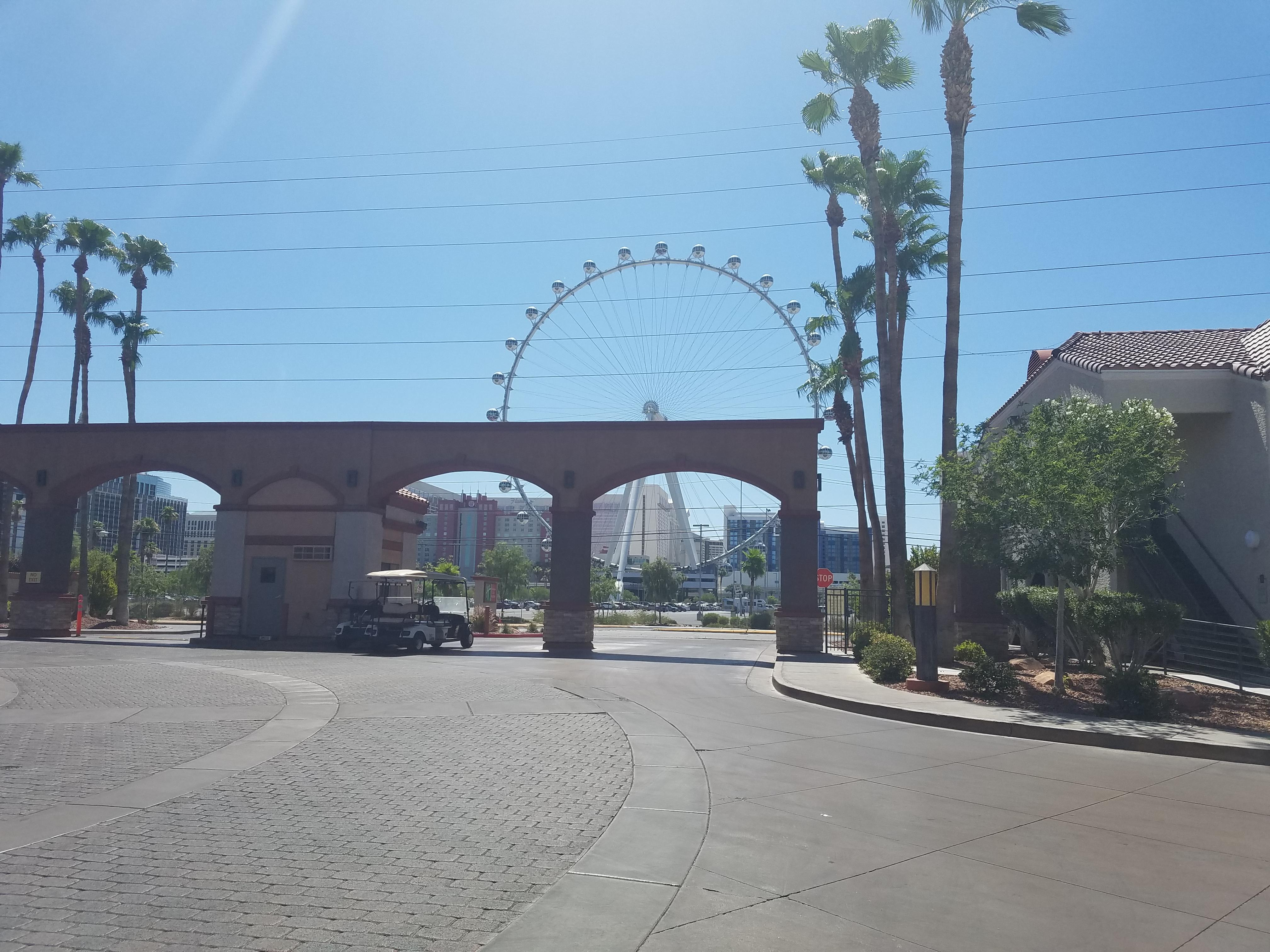 View from the entrance of hotel