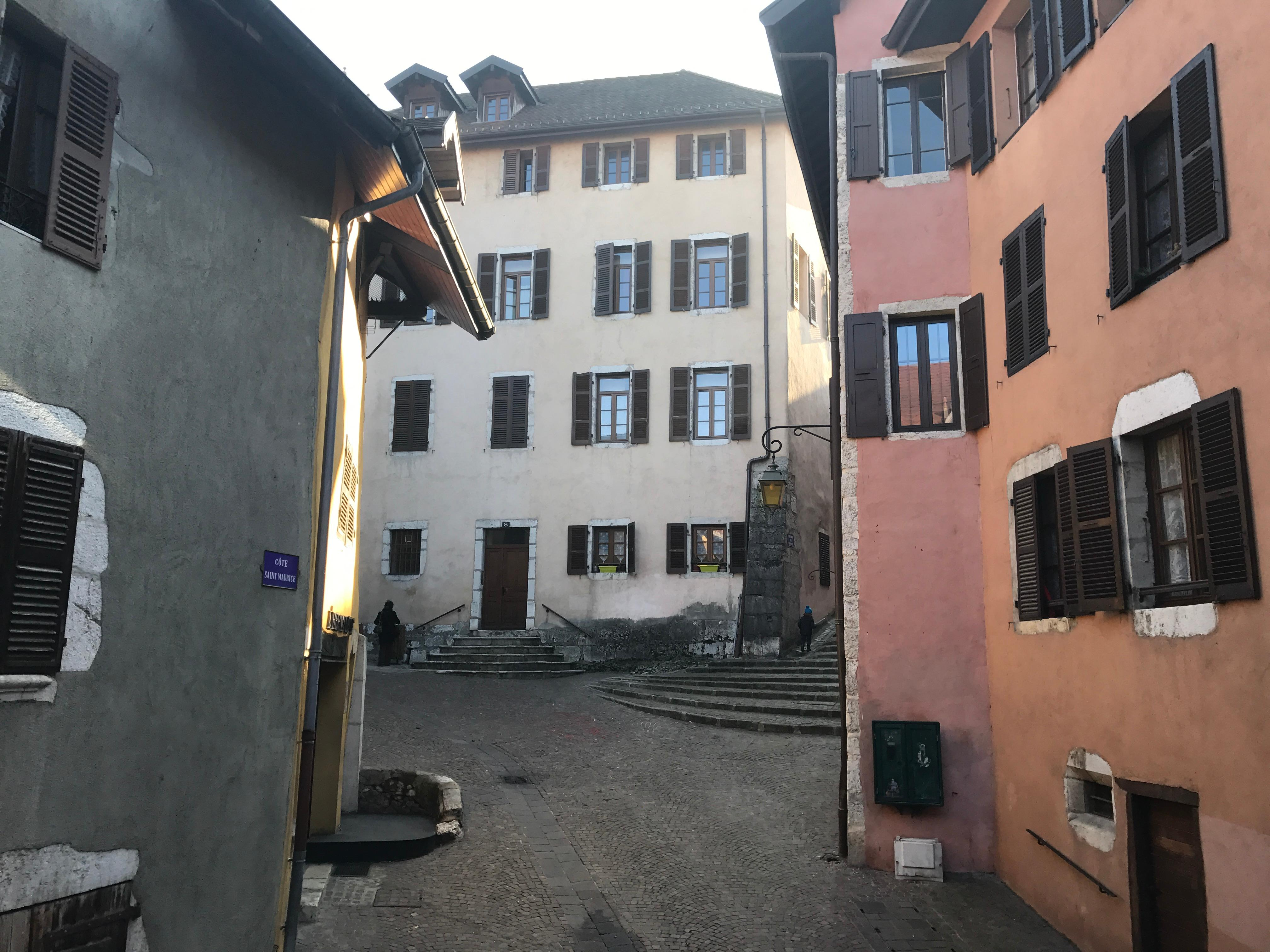 View from balcony (faces away from main pedestrian street)