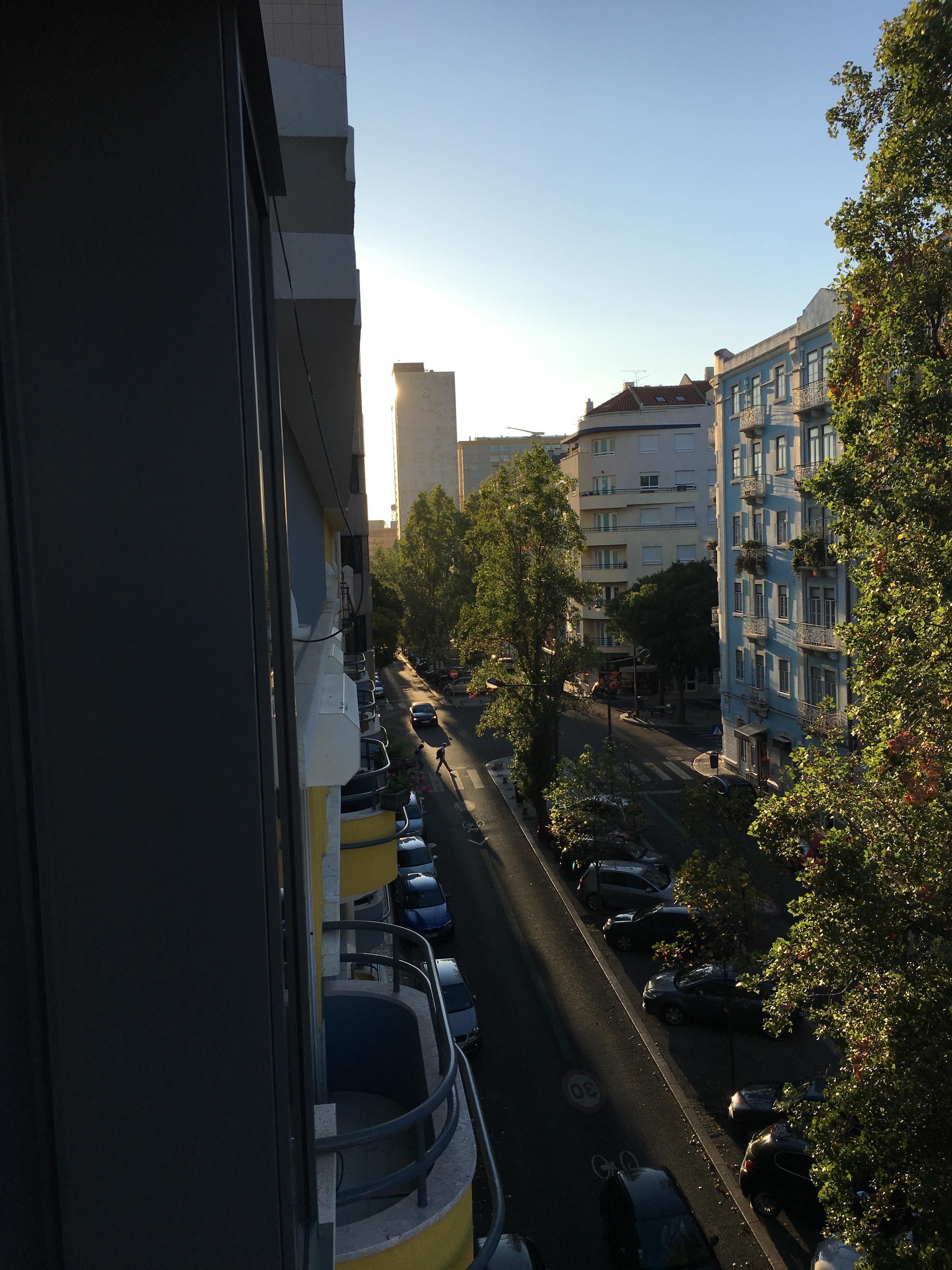 Blick vom Appartement gen Süden
